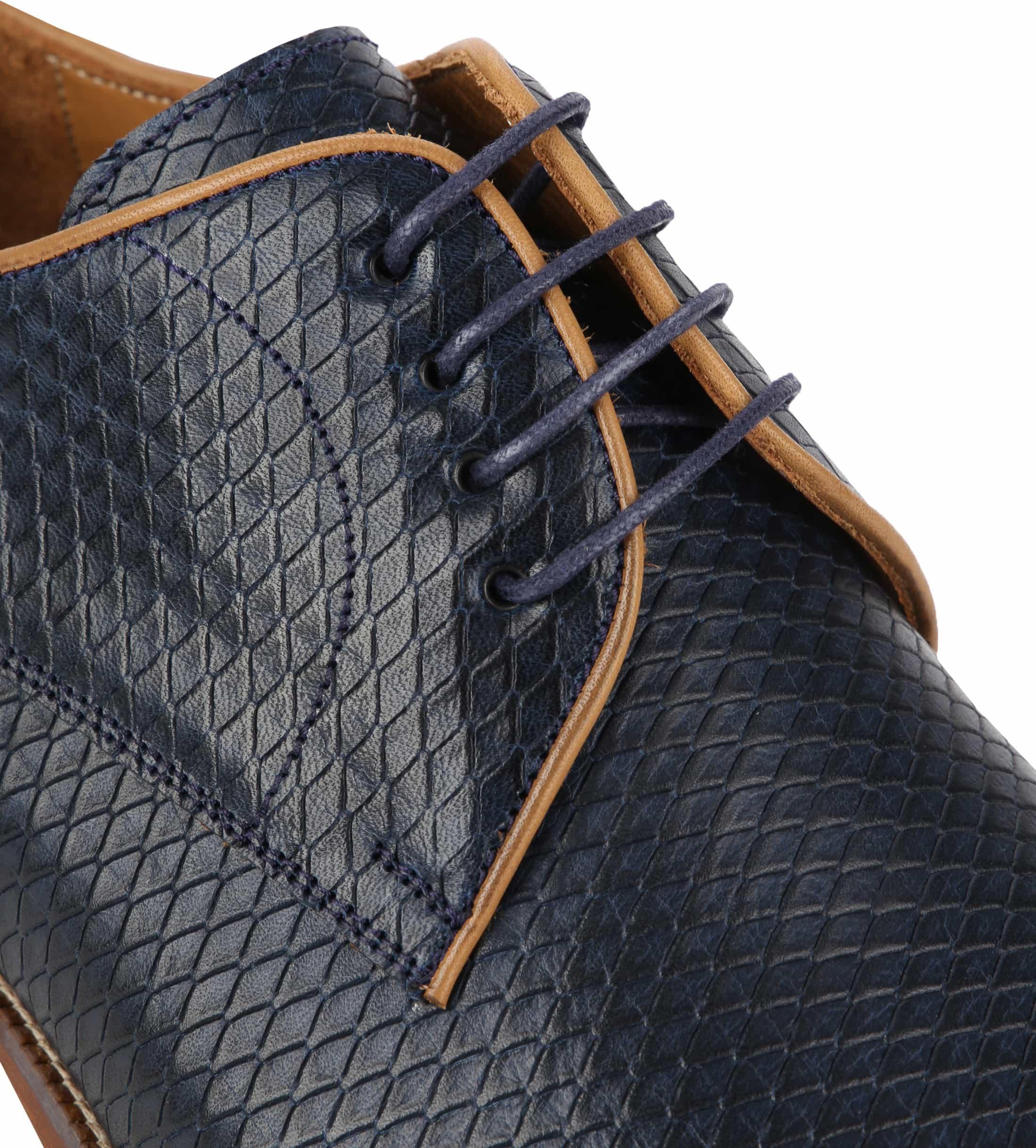 Suitable Dress Shoes Derby Print Navy foto 1