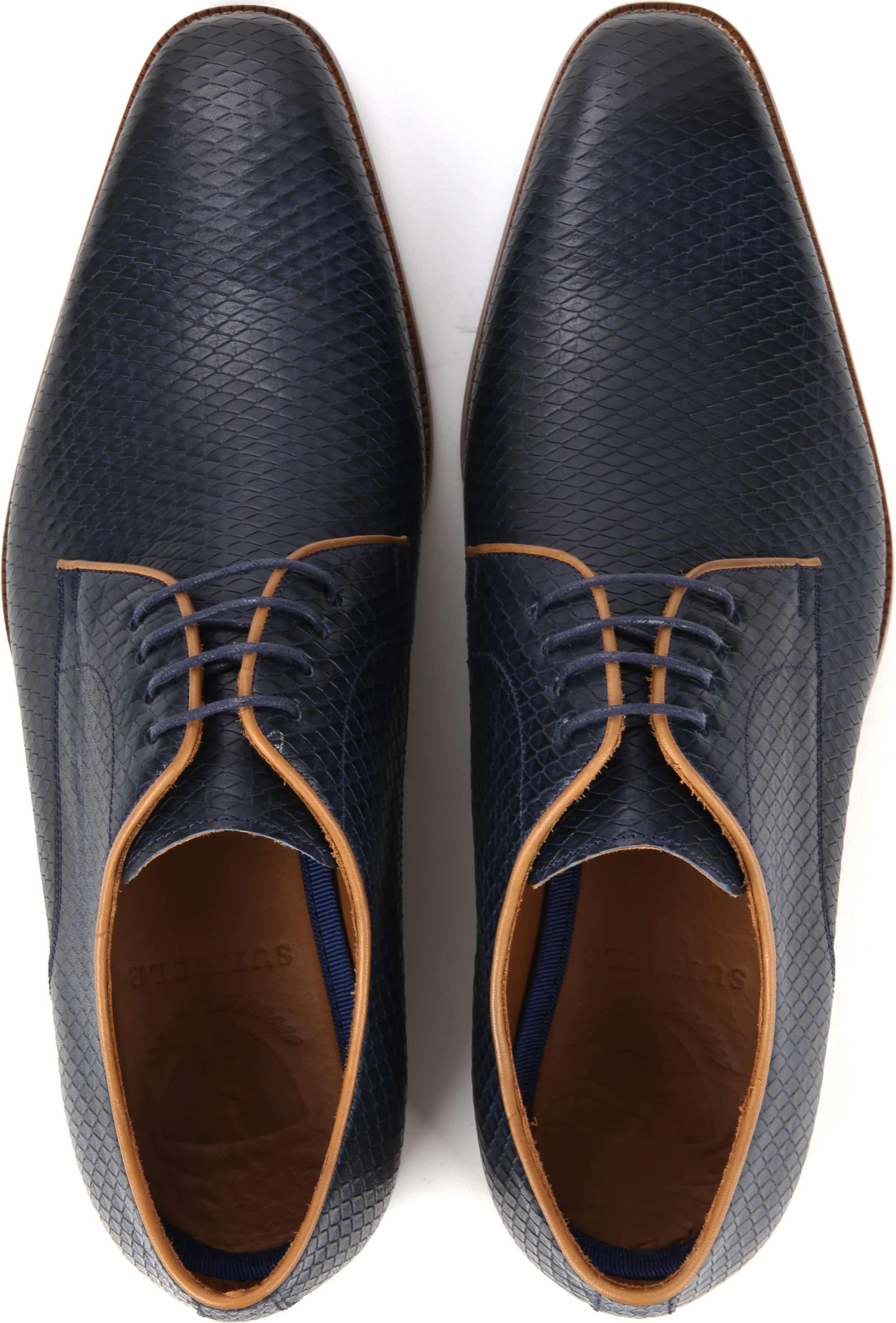 Suitable Dress Shoes Derby Print Navy foto 2