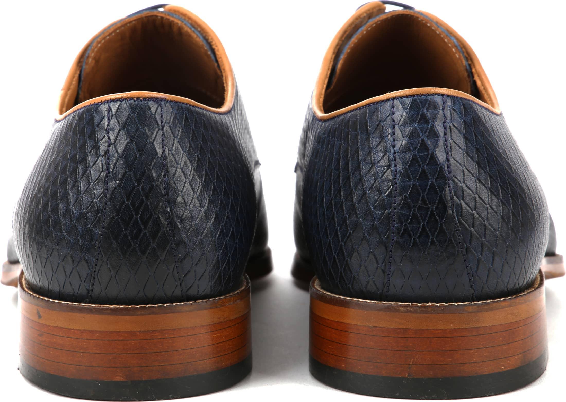Suitable Dress Shoes Derby Print Navy foto 3