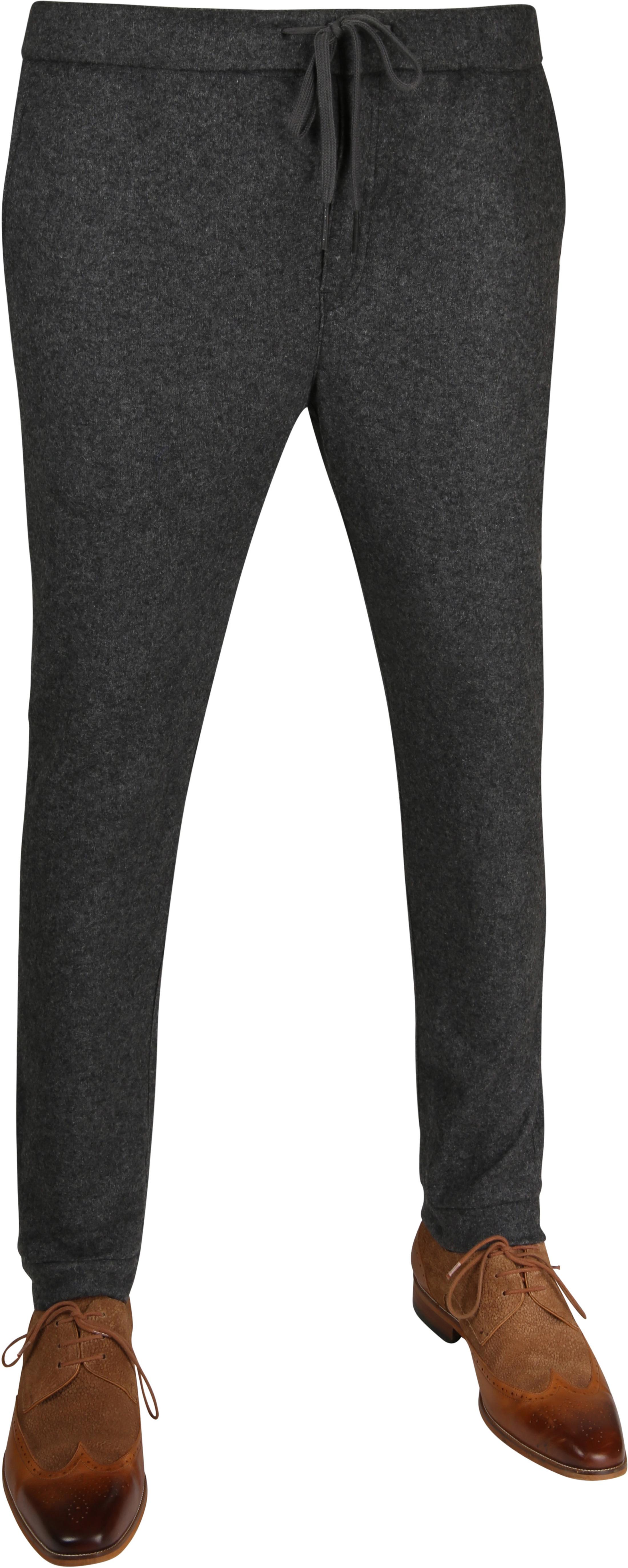 Suitable Easky Pantalon Jersey Antraciet foto 0