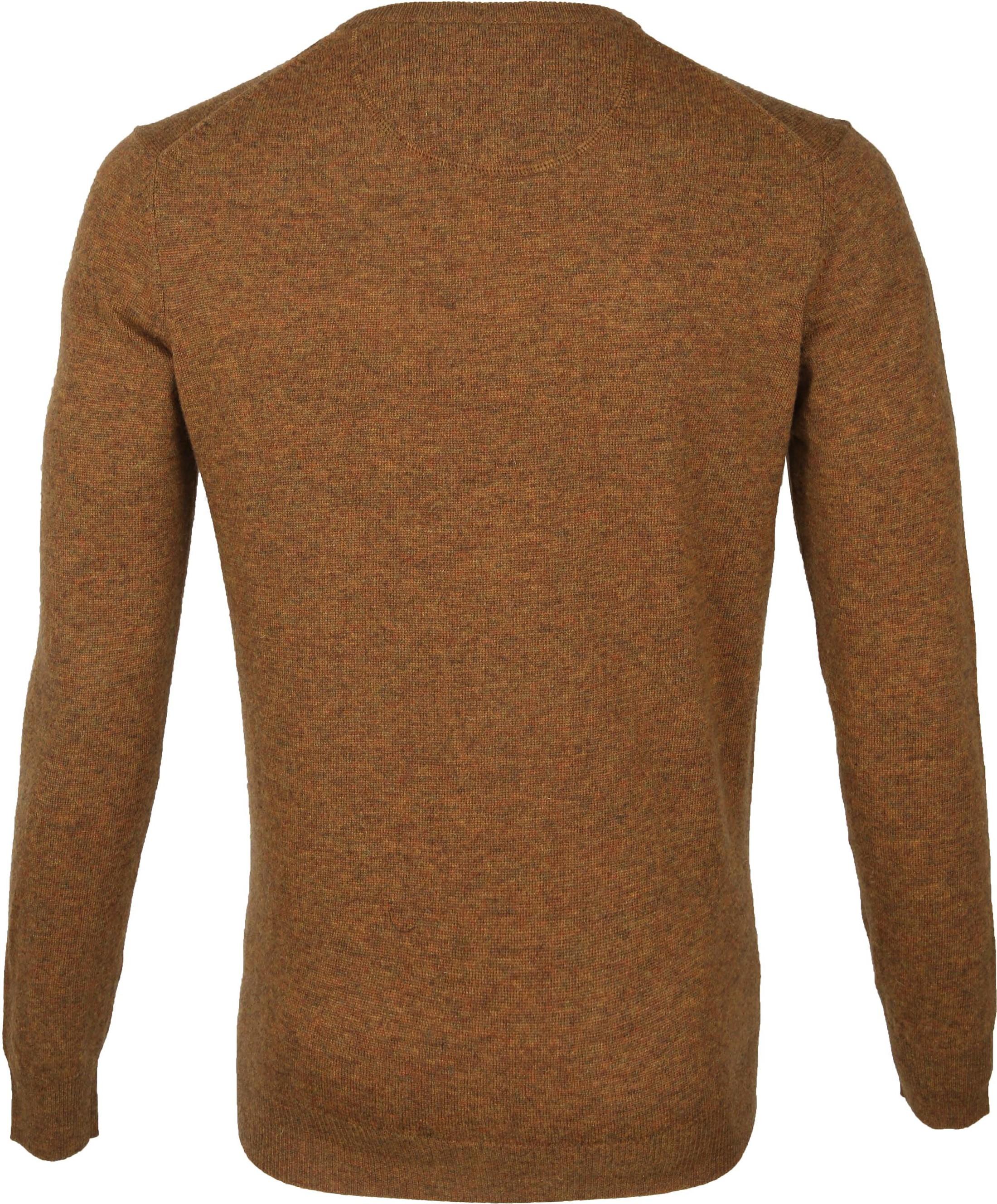 Suitable Fijn Lamswol 12 garen Pullover V-Hals Okergeel