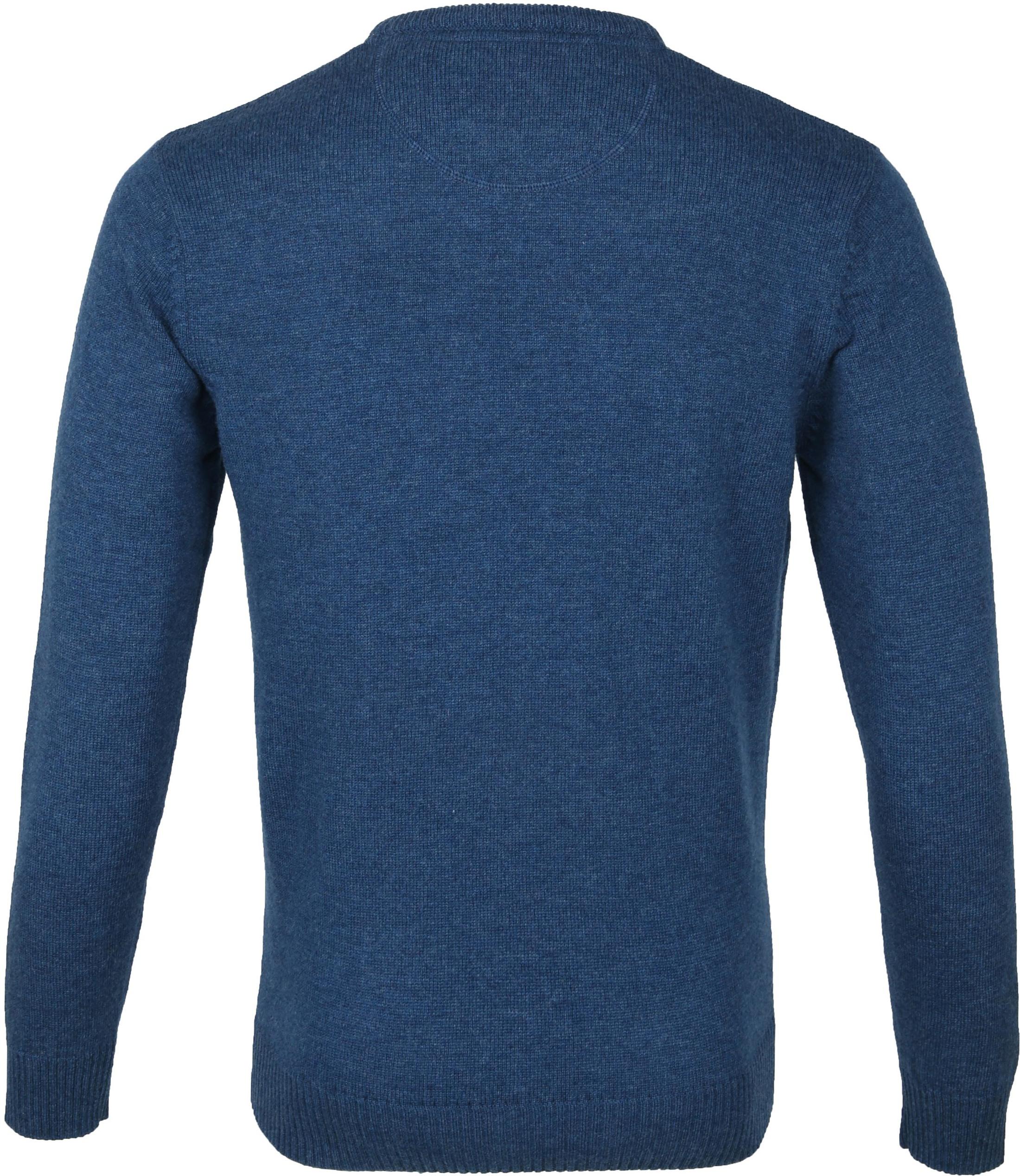 Suitable Fijn Lamswol 9 garen Pullover O-Hals Petrol Blauw