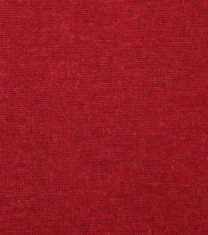 Suitable Fine Lambswool 12 gauge Pullover V-Neck Red