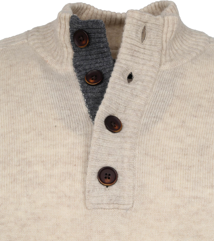 Suitable Fine Lambswool 9 gauge Mocker Pullover Beige