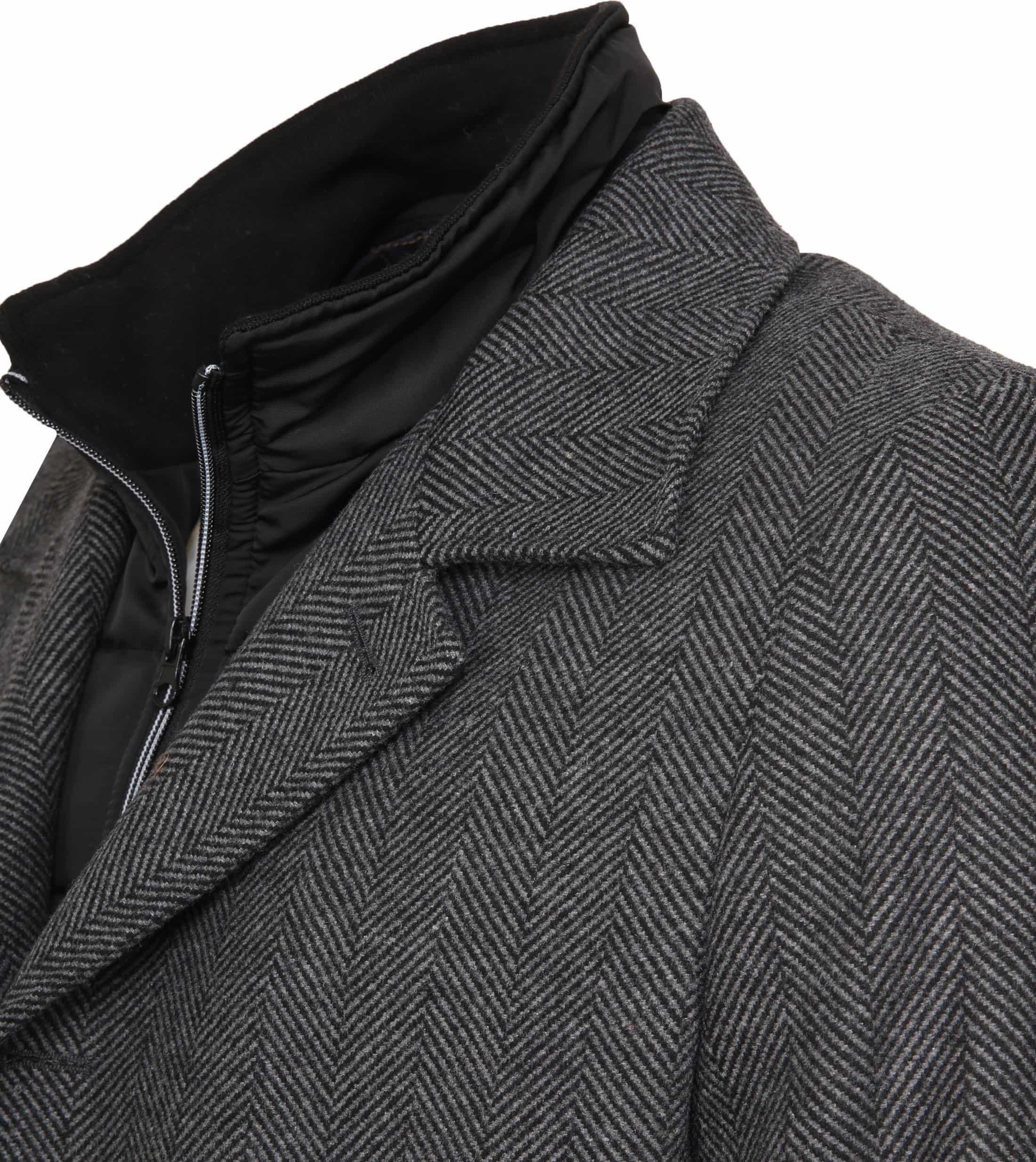 Suitable Geke Coat Herringbone Antraciet foto 3