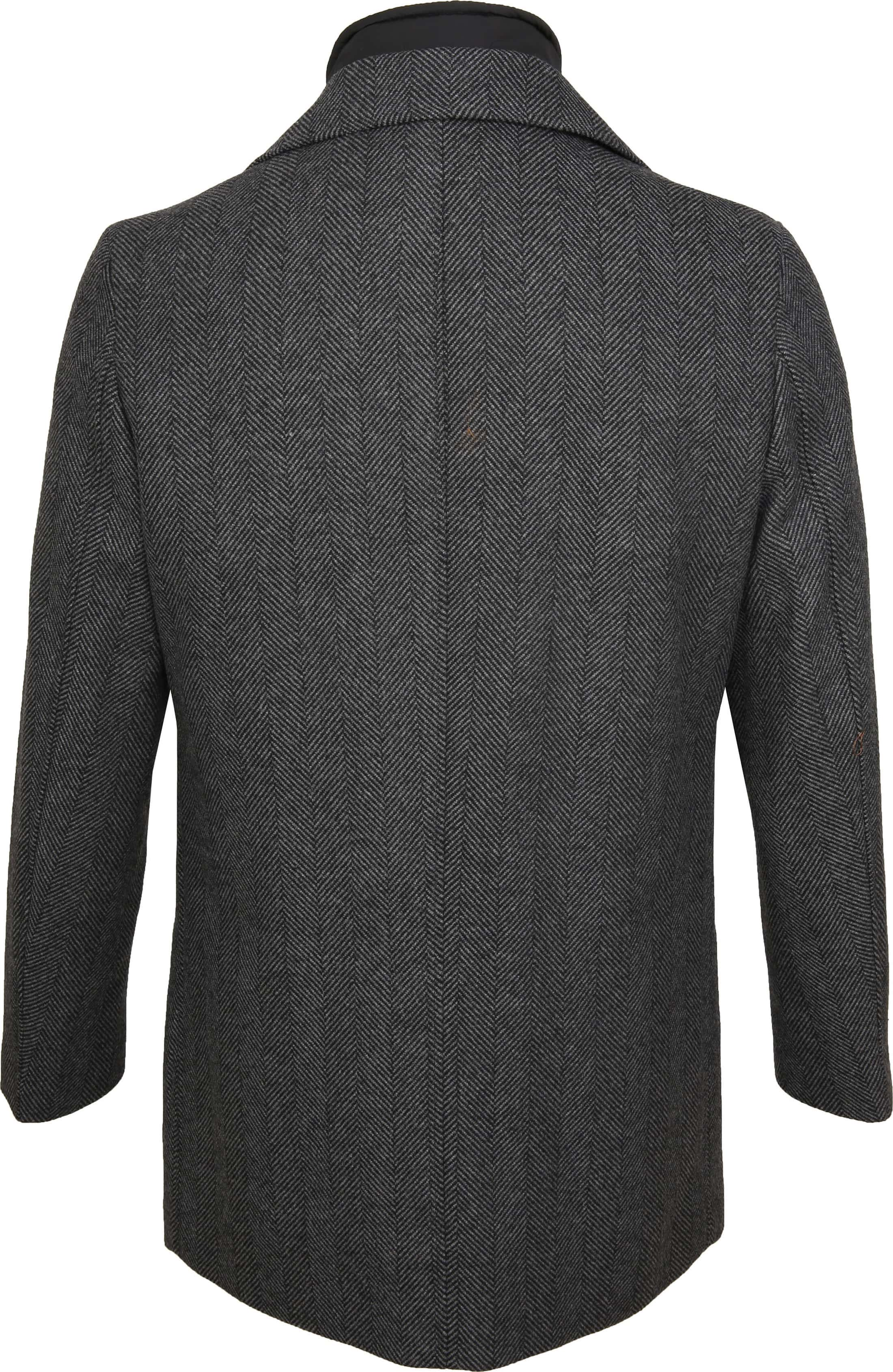 Suitable Geke Coat Herringbone Antraciet foto 6