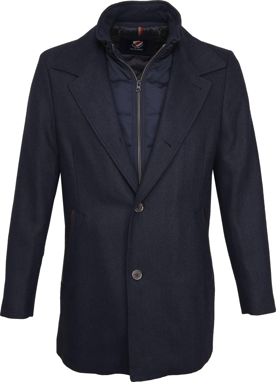 Suitable Geke Coat Herringbone Navy foto 0