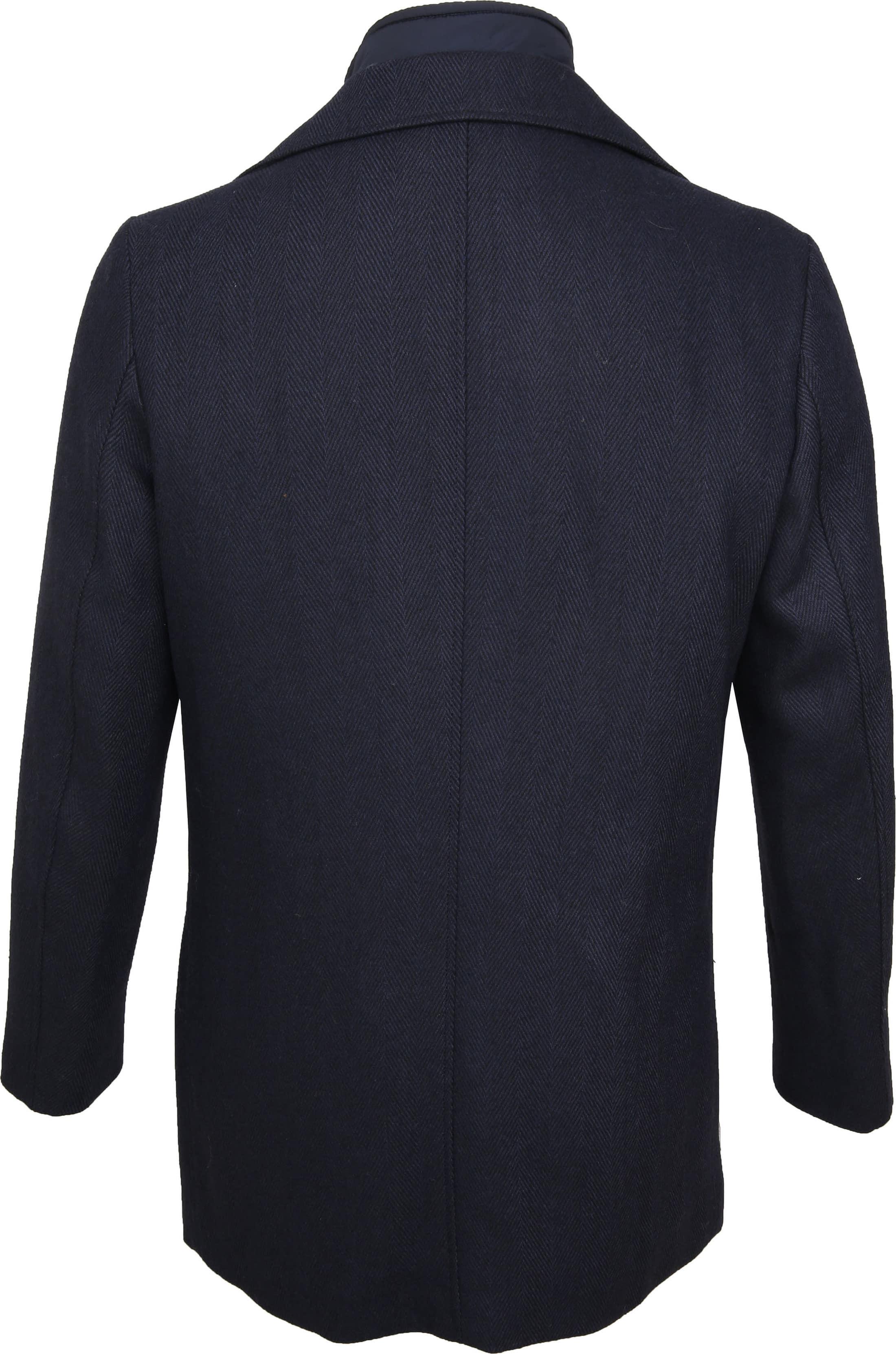 Suitable Geke Coat Herringbone Navy foto 6