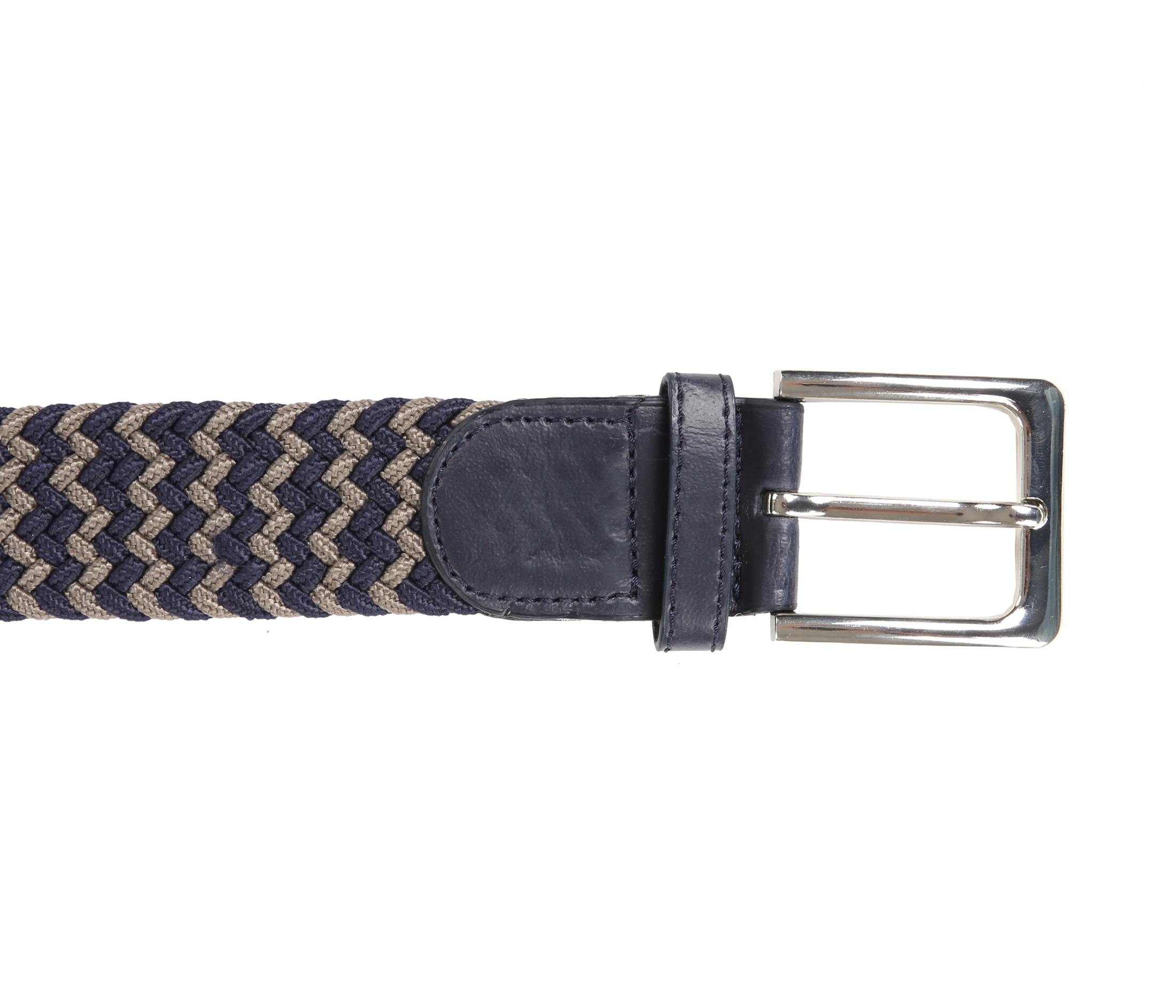 Suitable Geweven Riem Navy Taupe foto 1