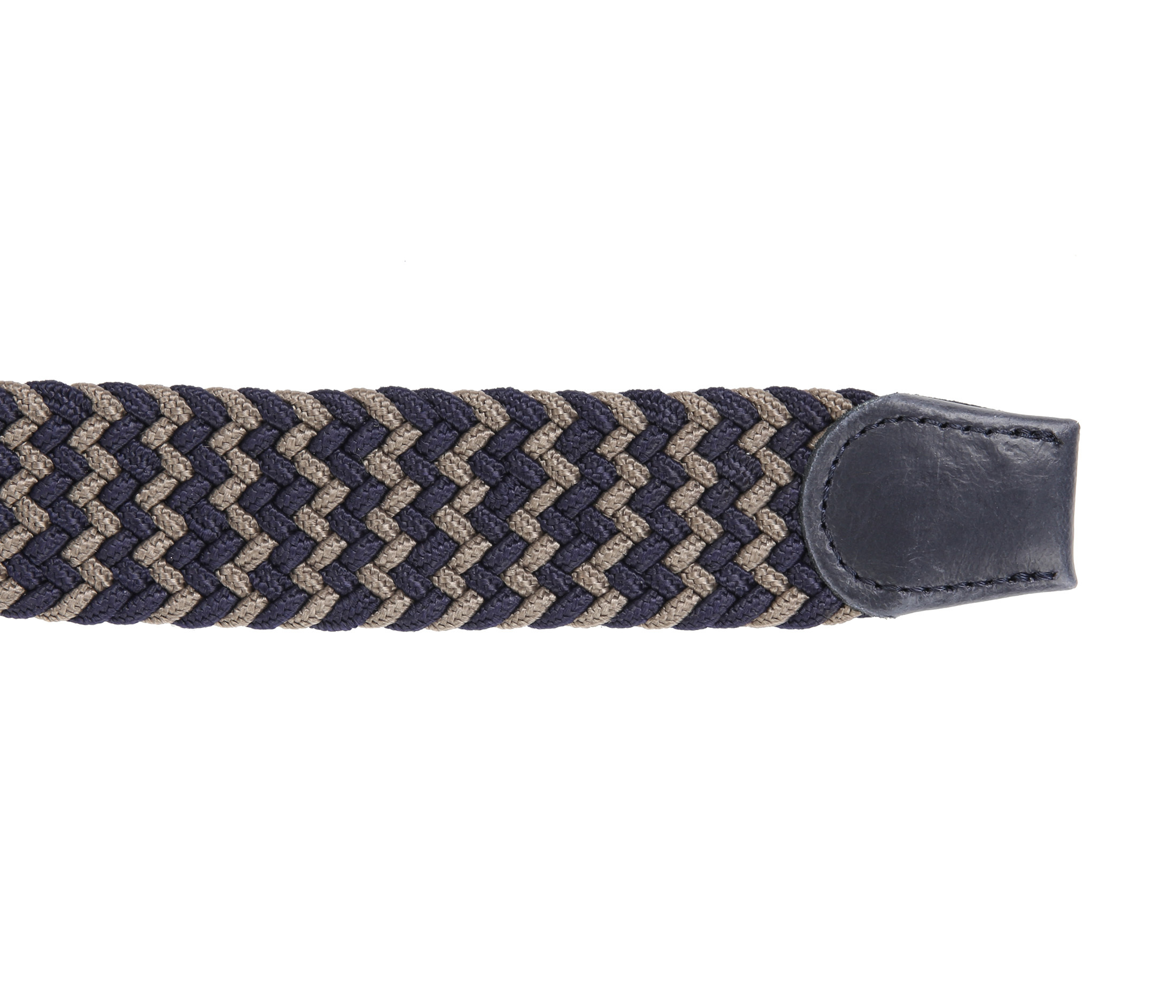 Suitable Geweven Riem Navy Taupe foto 2