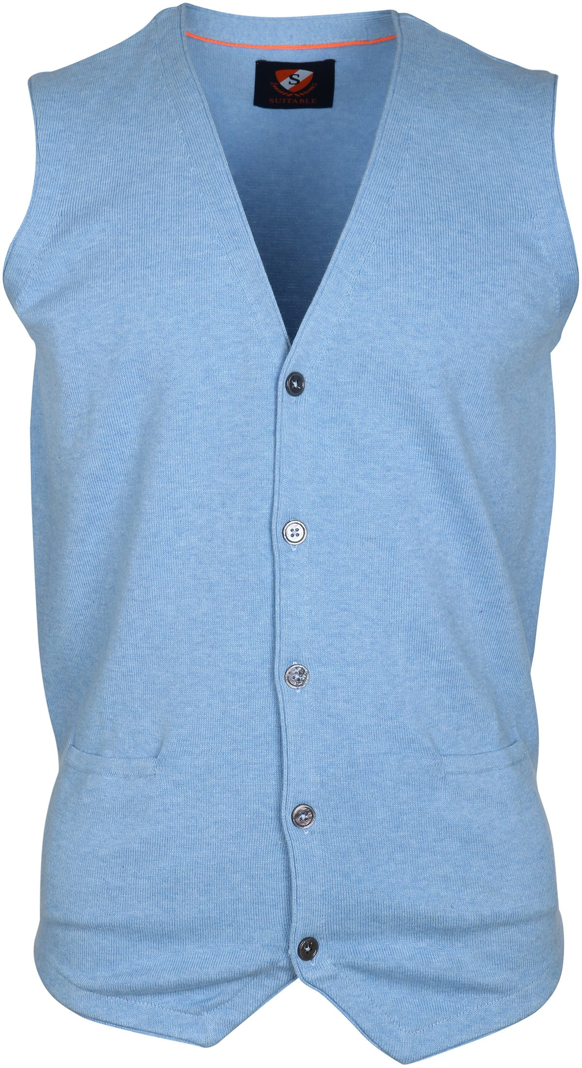 Suitable Gilet Cotton Light Blue foto 0