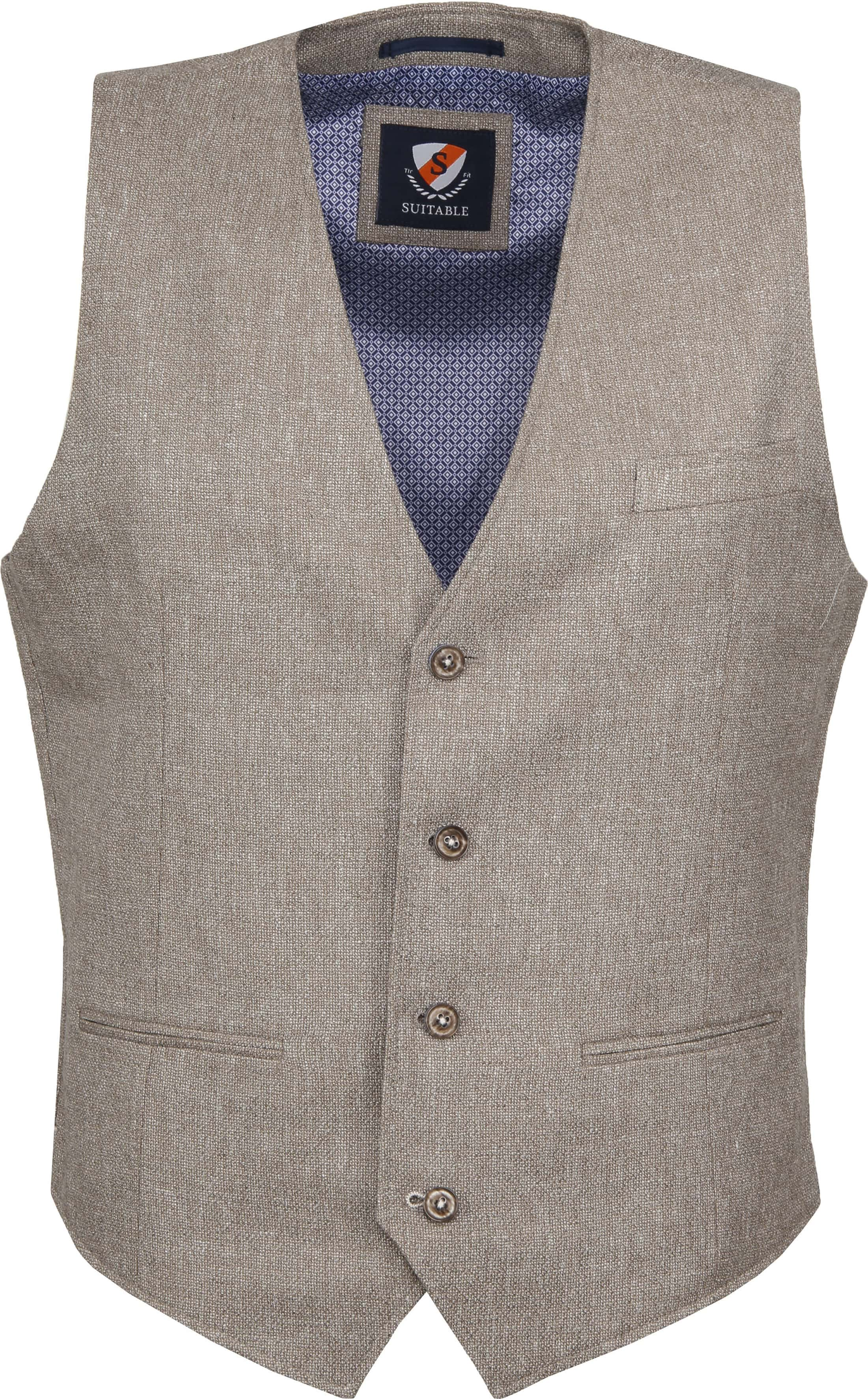 Suitable Gilet Kris Tolo Brown