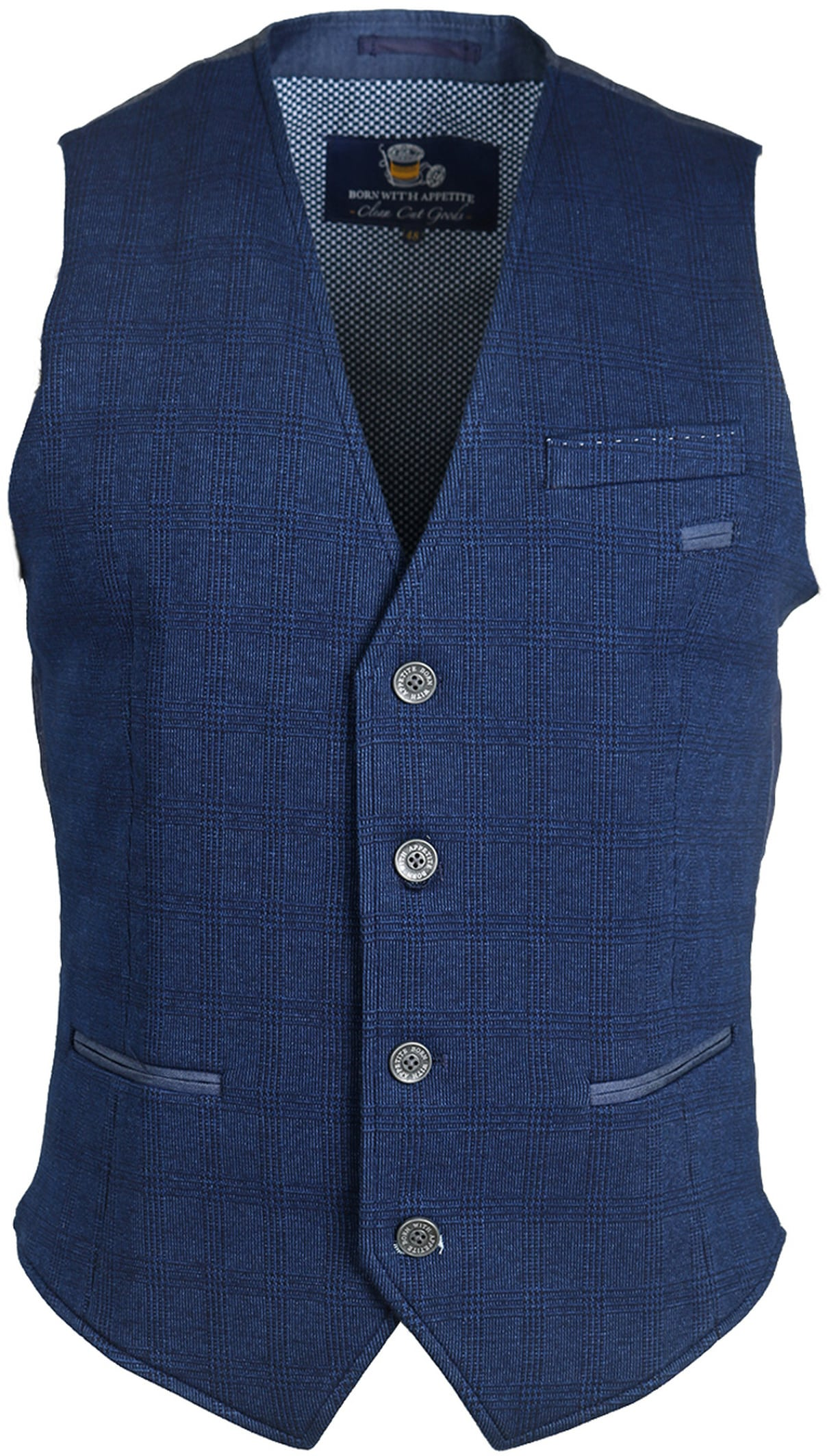 Suitable Gilet Ruit Navy foto 0