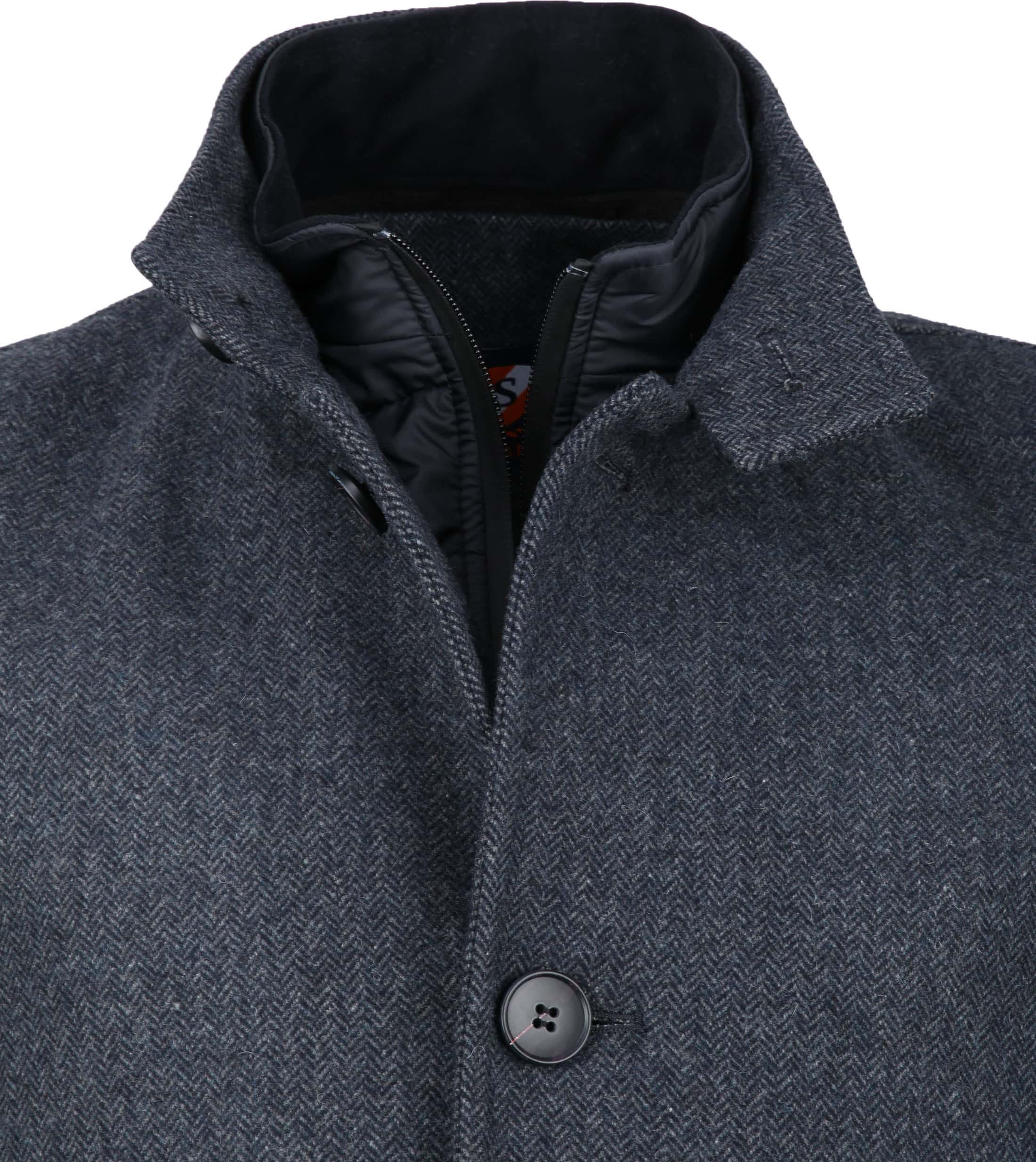 Suitable Hamburg Coat Herringbone Navy foto 2