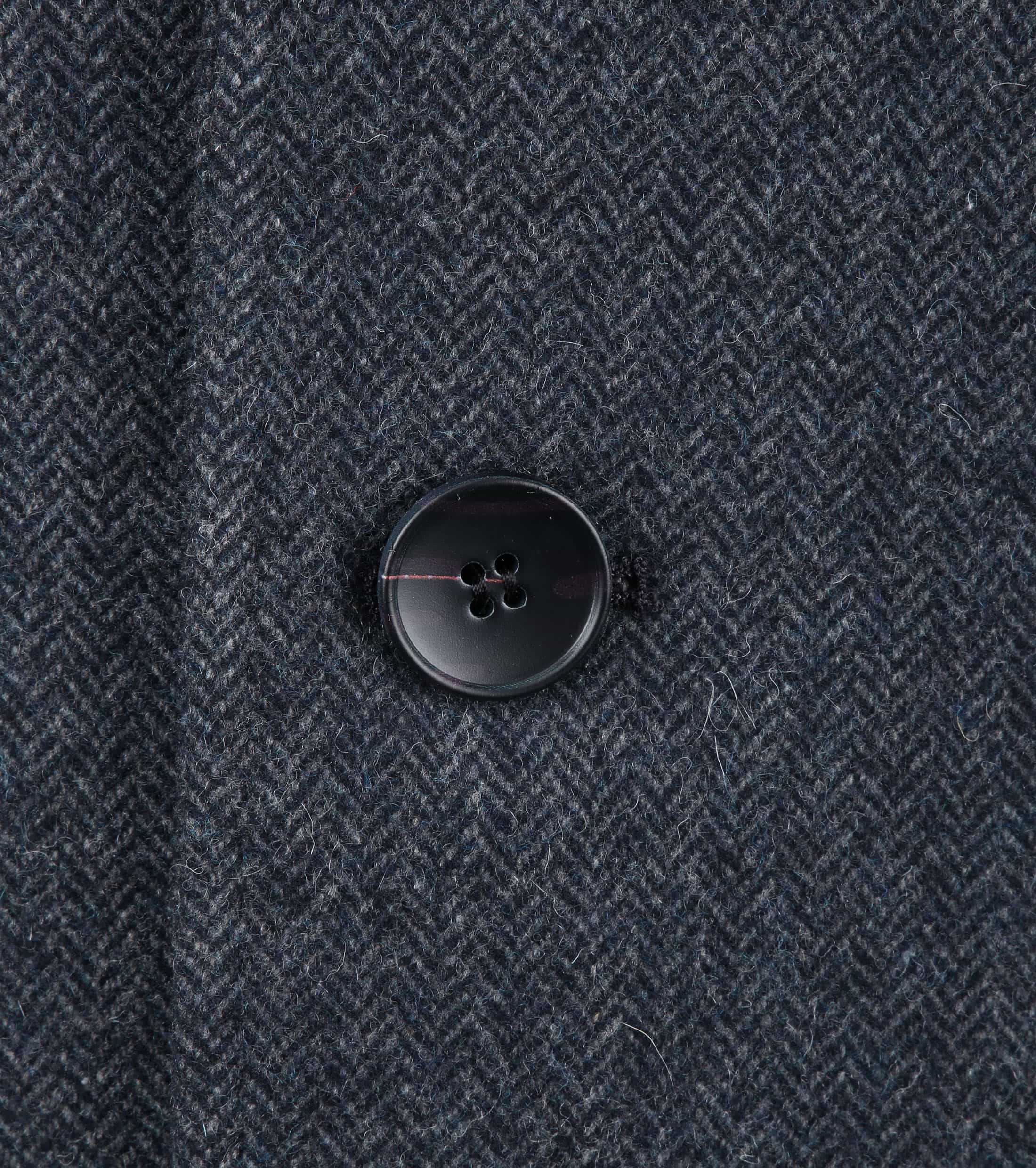 Suitable Hamburg Coat Herringbone Navy foto 3