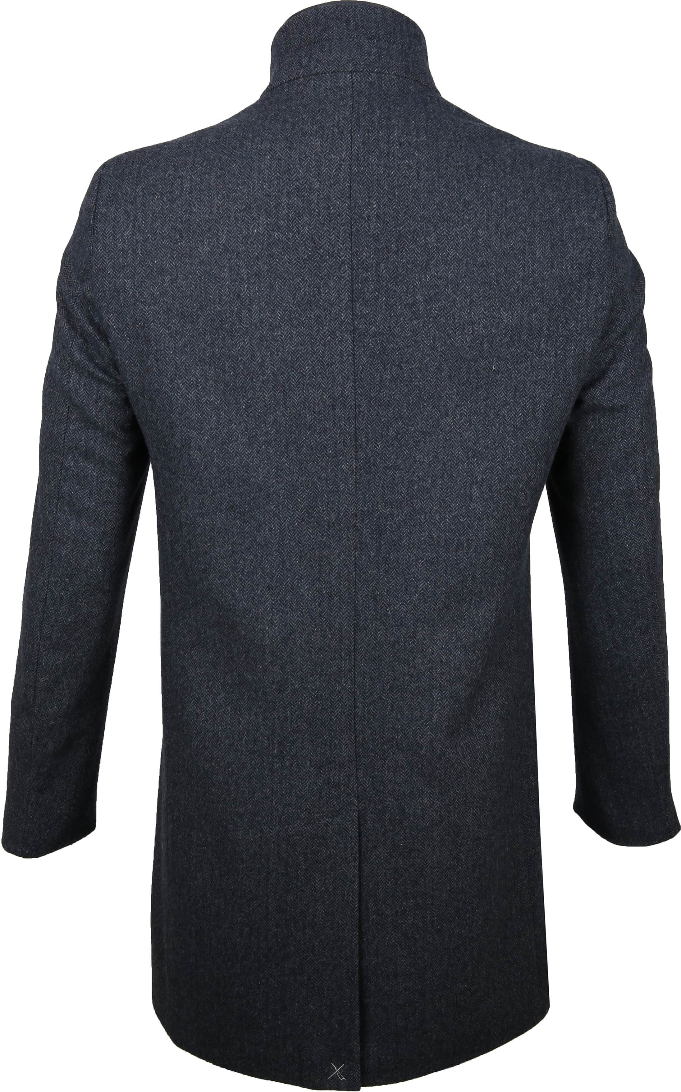 Suitable Hamburg Coat Herringbone Navy foto 5