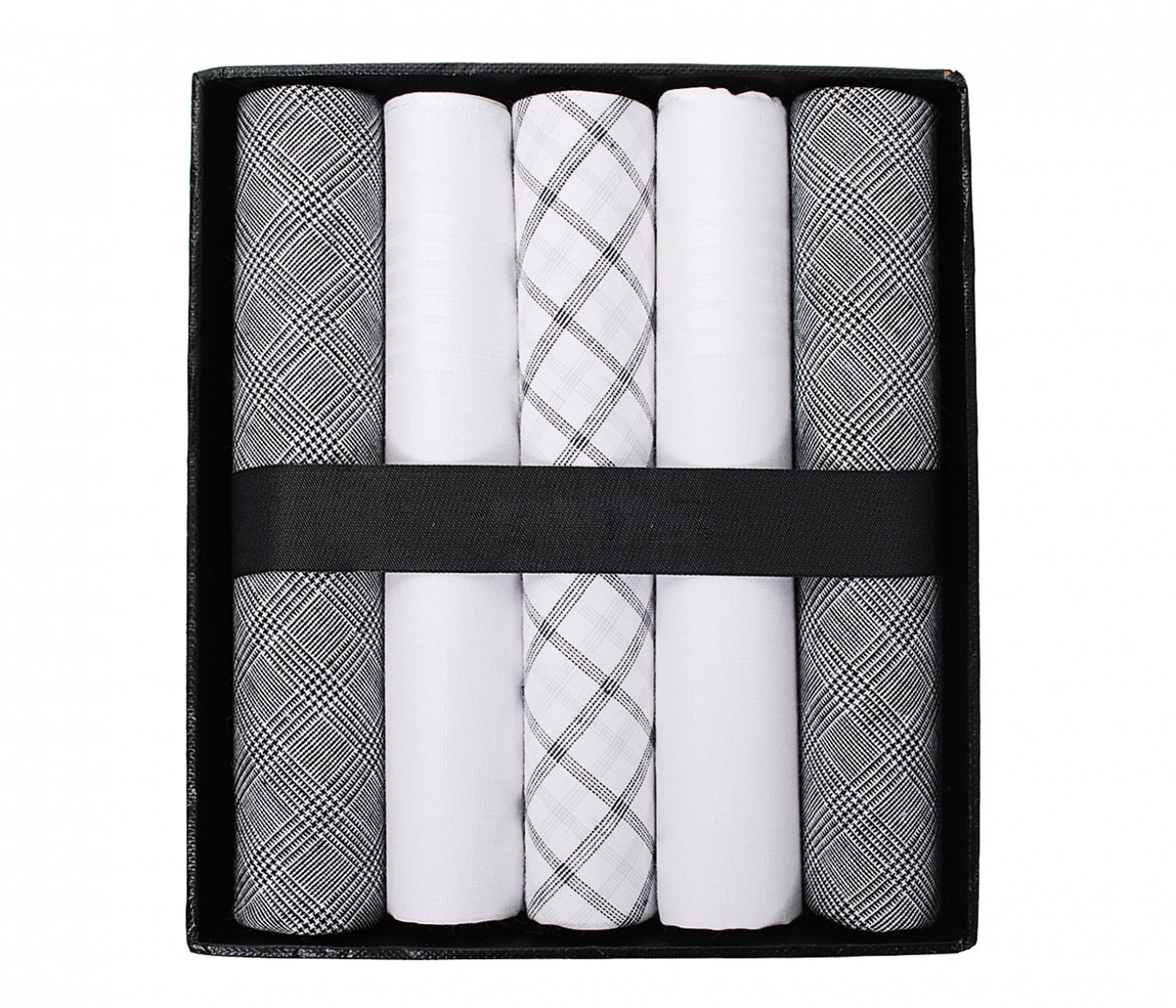 Suitable Handkerchief Set Grey Checkered foto 0
