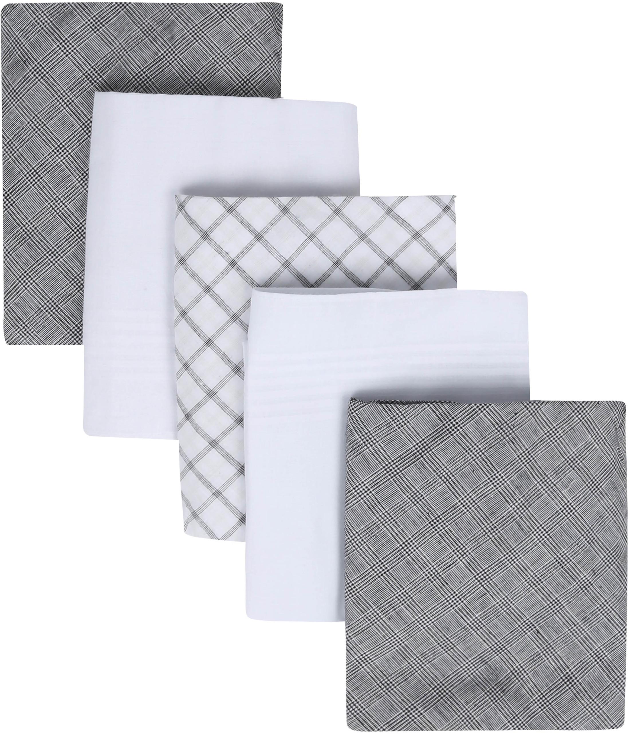 Suitable Handkerchief Set Grey Checkered