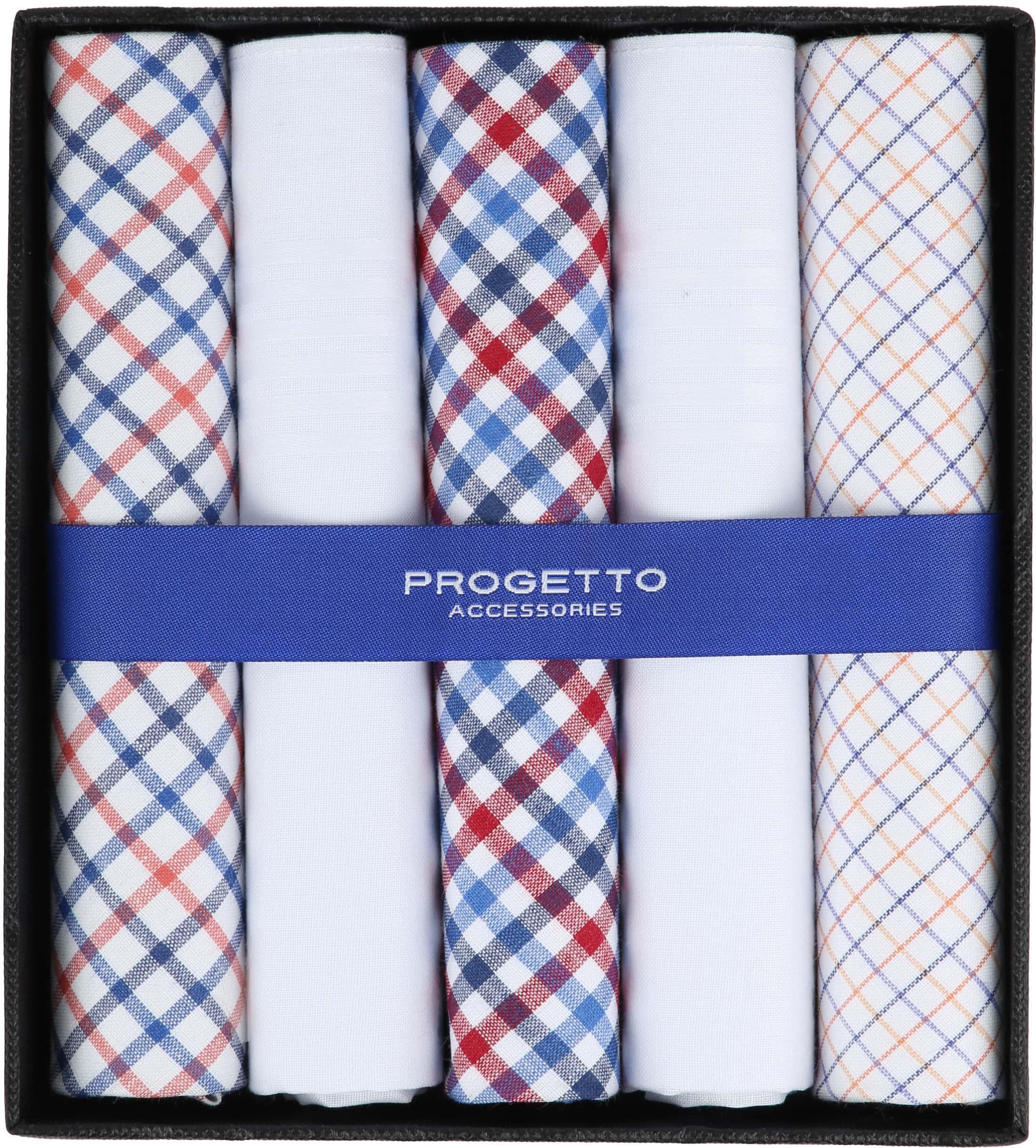 Suitable Handkerchiefs White Checkered foto 0