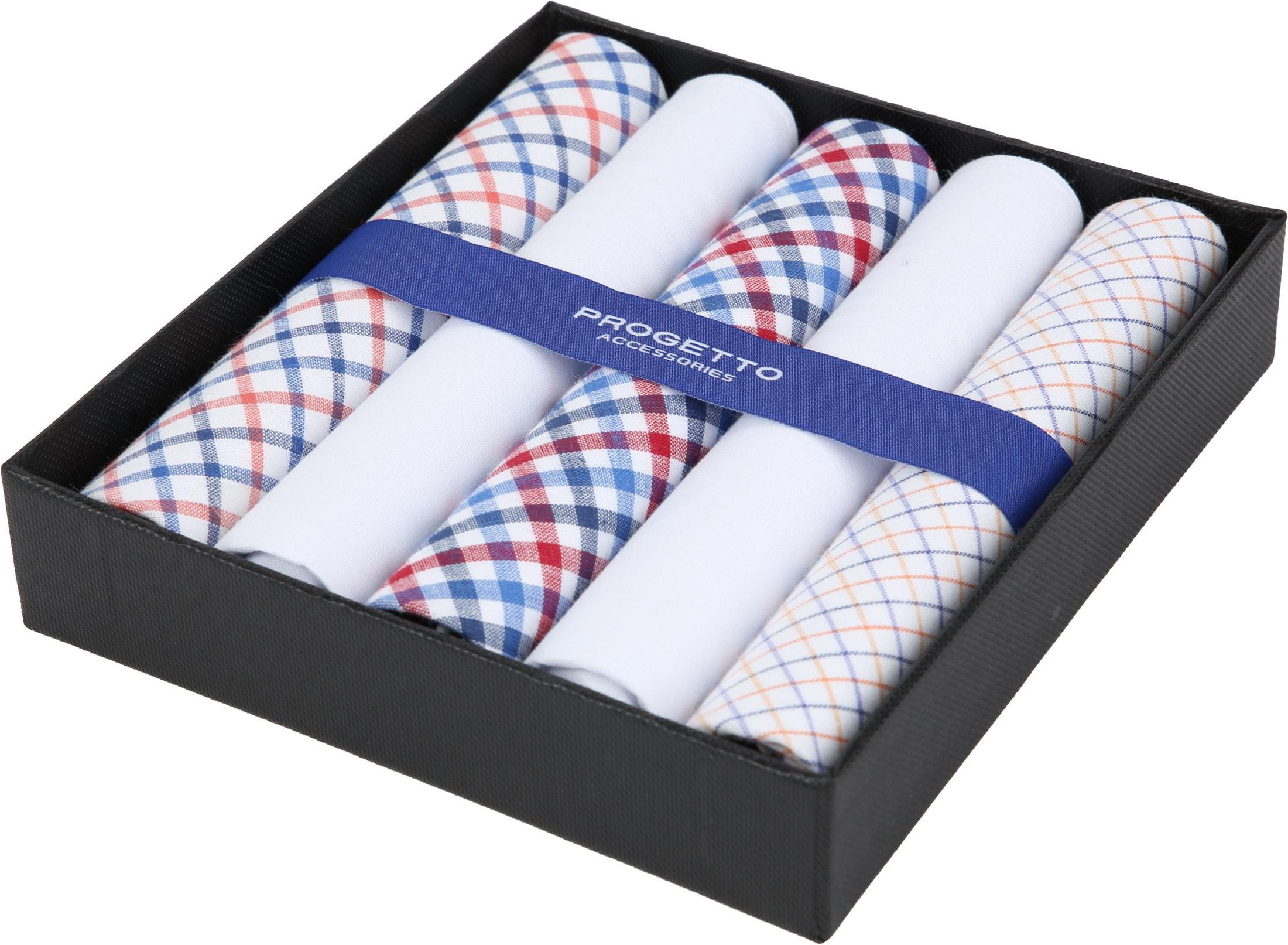 Suitable Handkerchiefs White Checkered foto 2