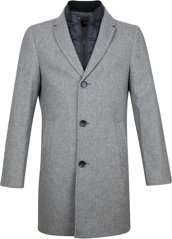 Suitable Hans Coat Herringbone Grijs foto 0