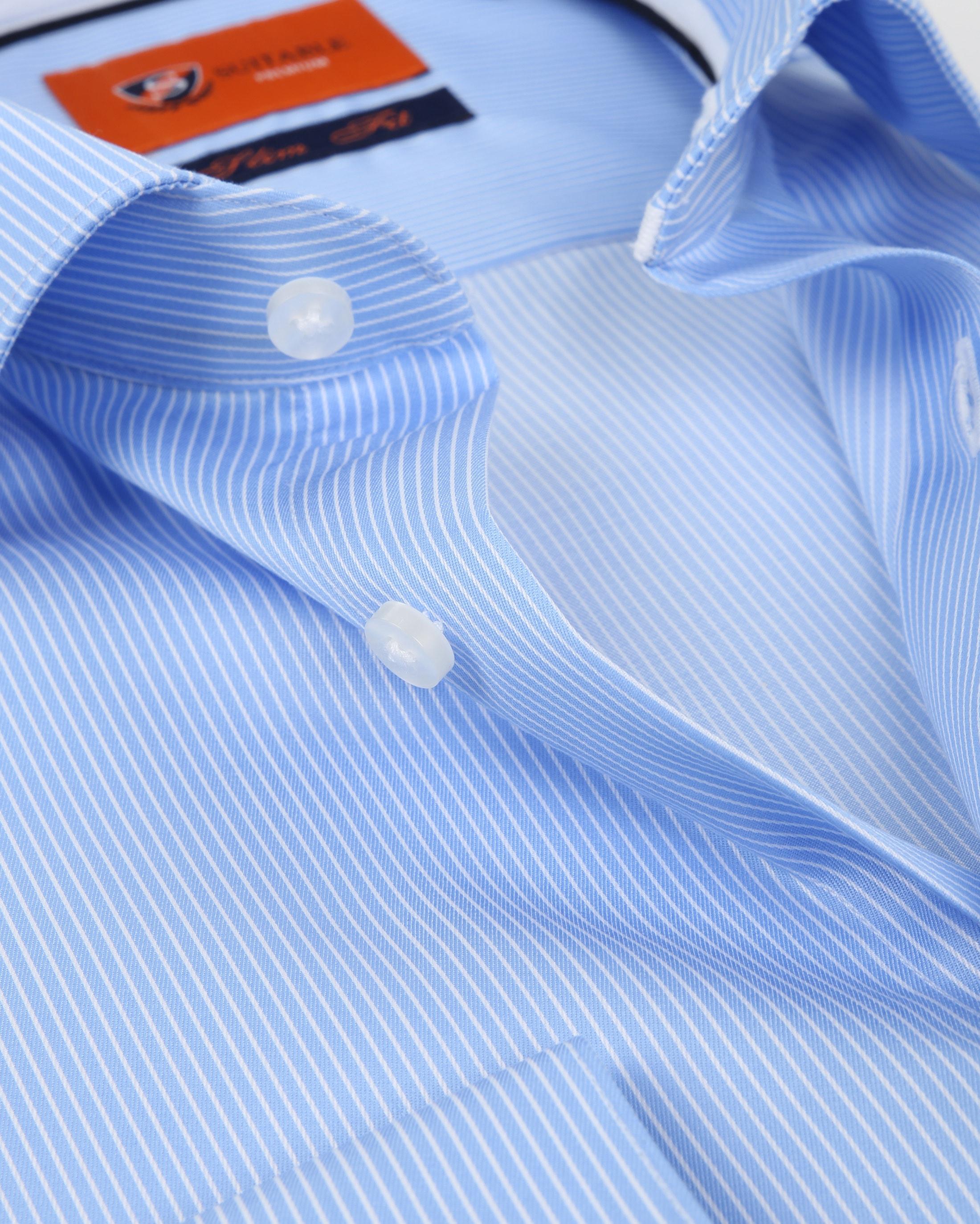 Suitable Hemd Blau Streifen D81-10 foto 1