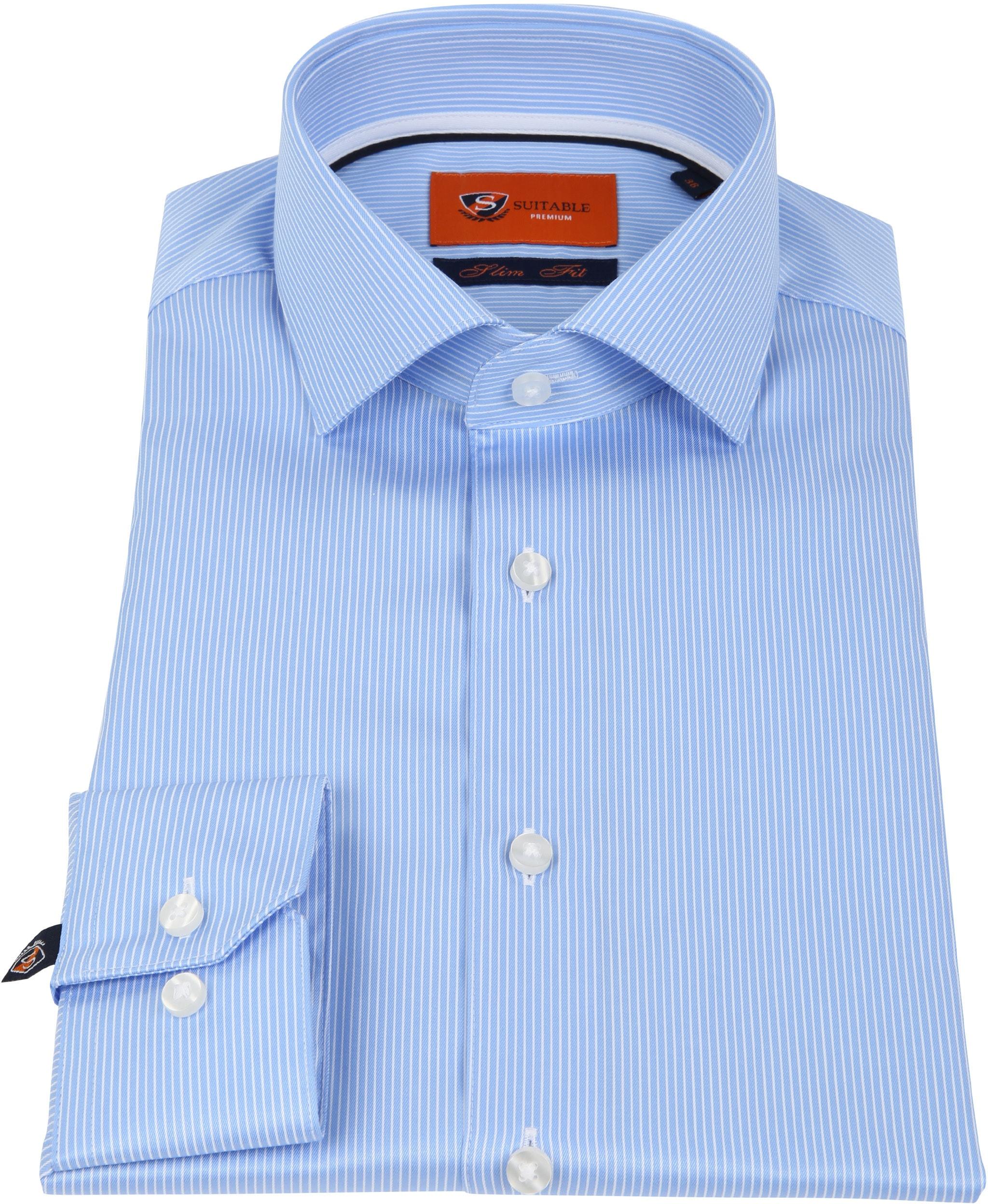 Suitable Hemd Blau Streifen D81-10 foto 2