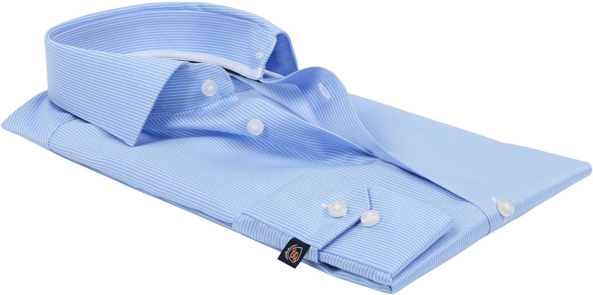 Suitable Hemd Blau Streifen D81-10 foto 3
