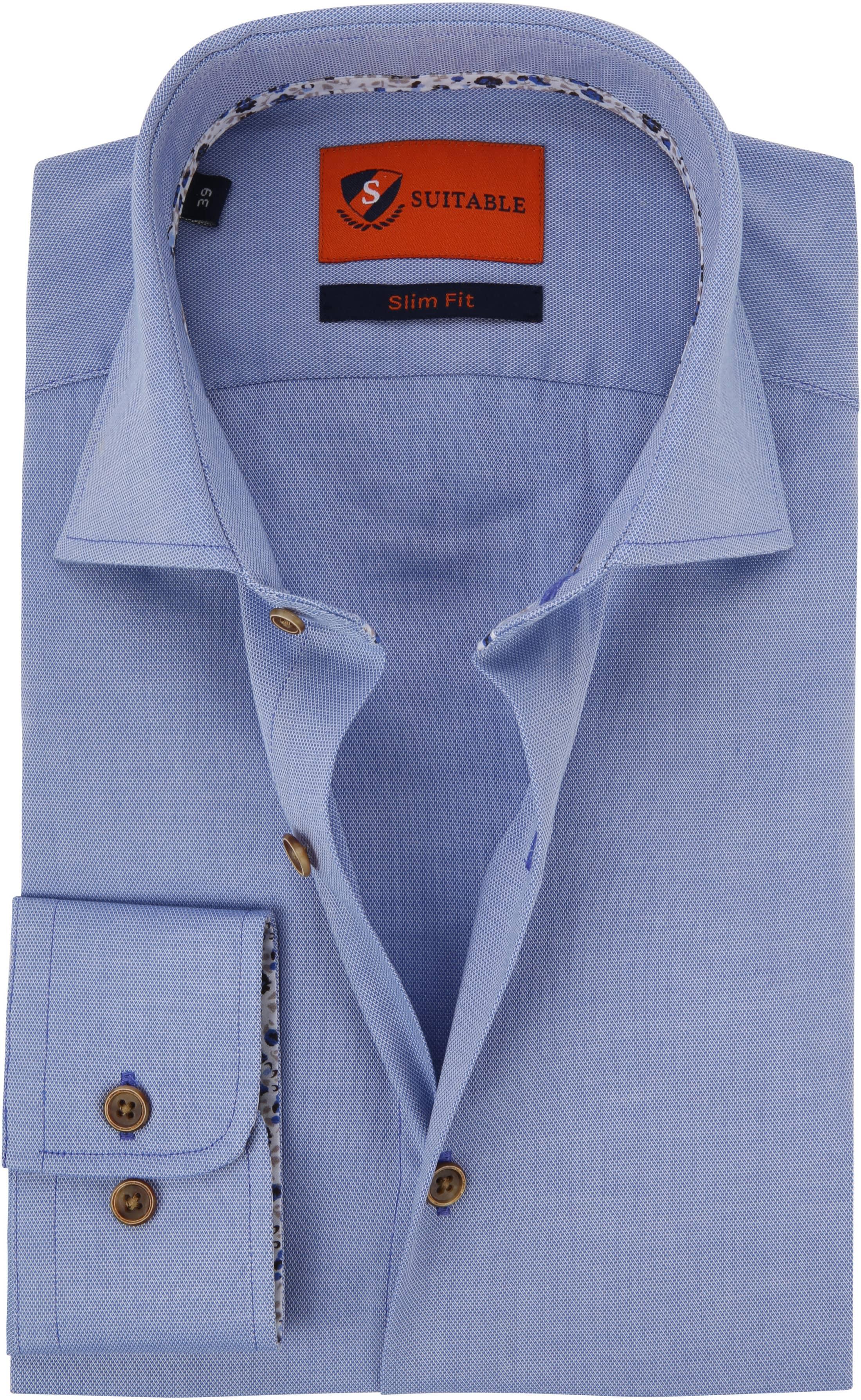 Suitable Hemd Hellblau Skinny Fit