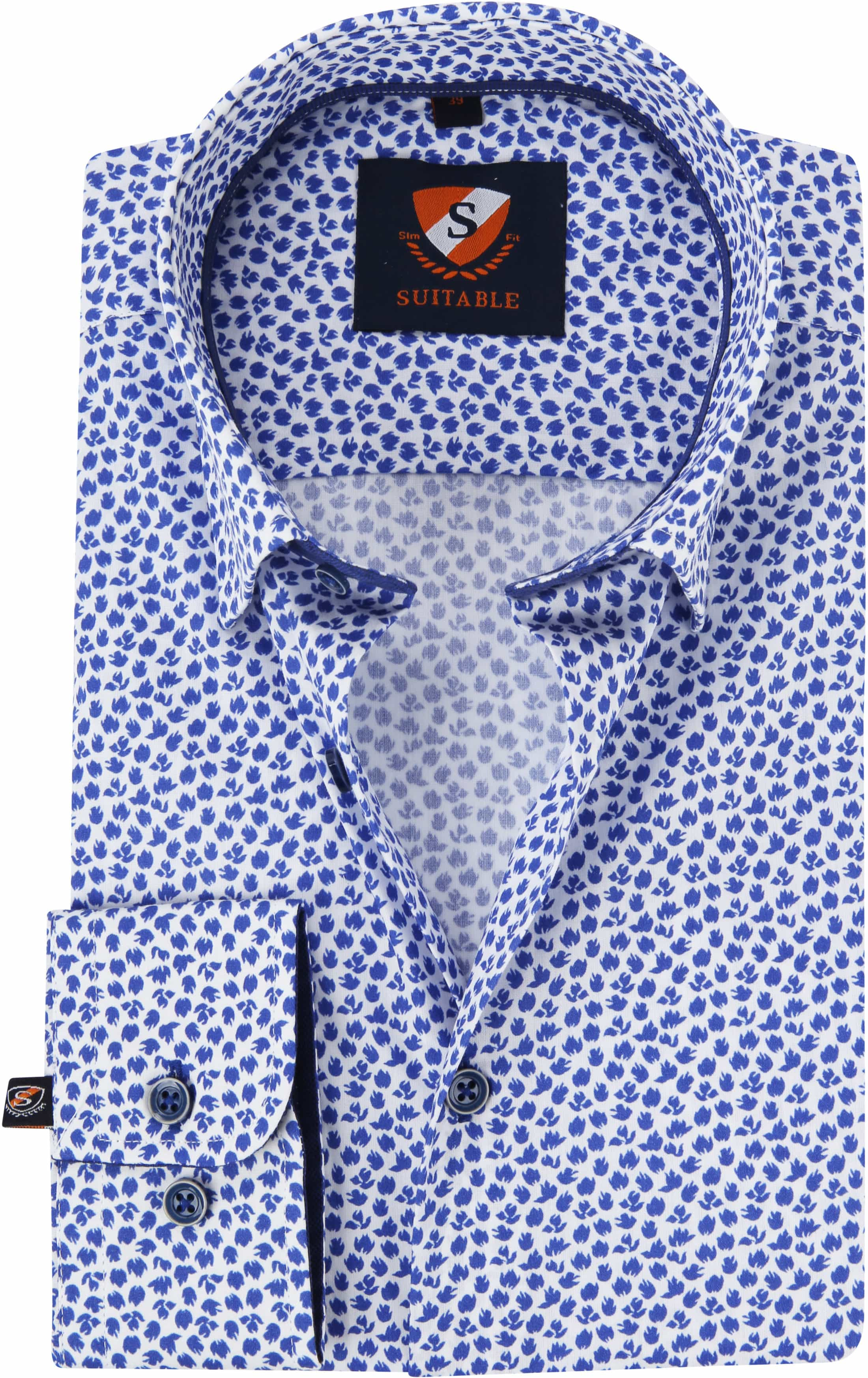 Suitable Hemd HBD Leaf Royal Blau foto 0