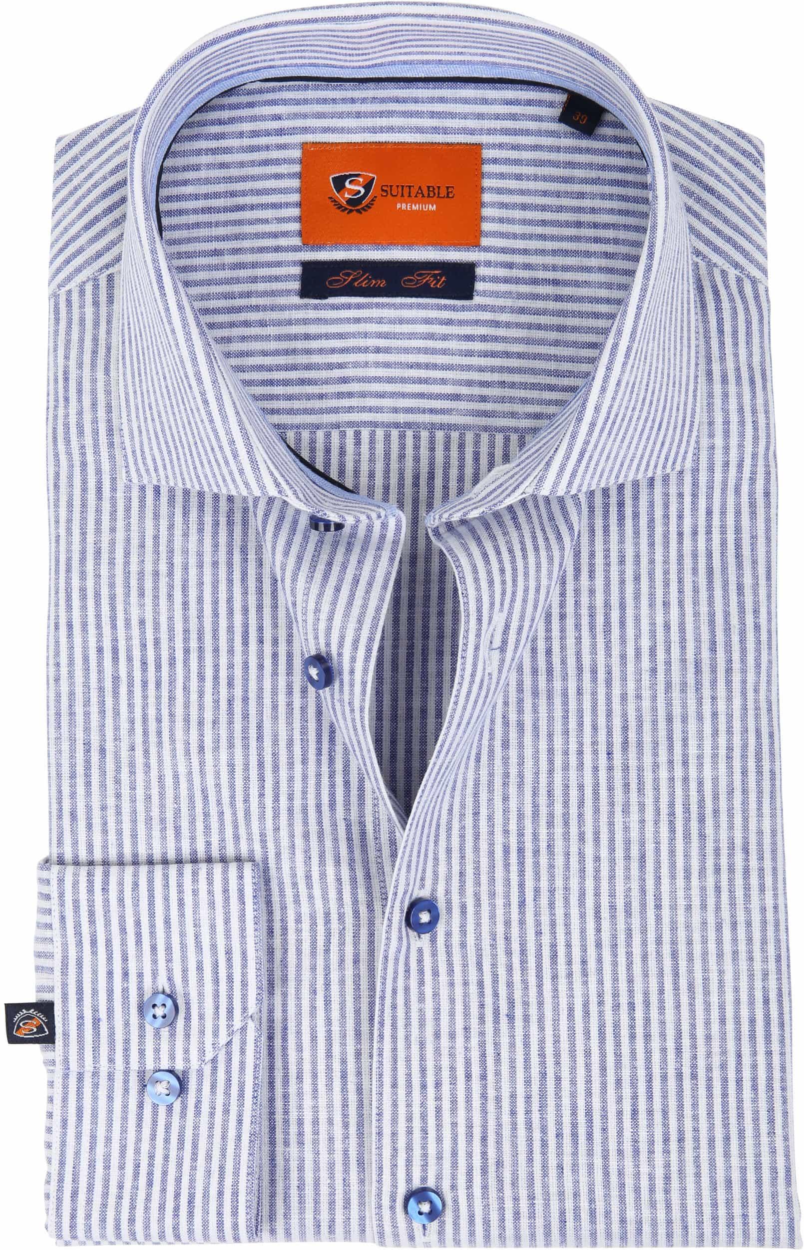 Suitable Hemd Leinen Blau D81-14 foto 0