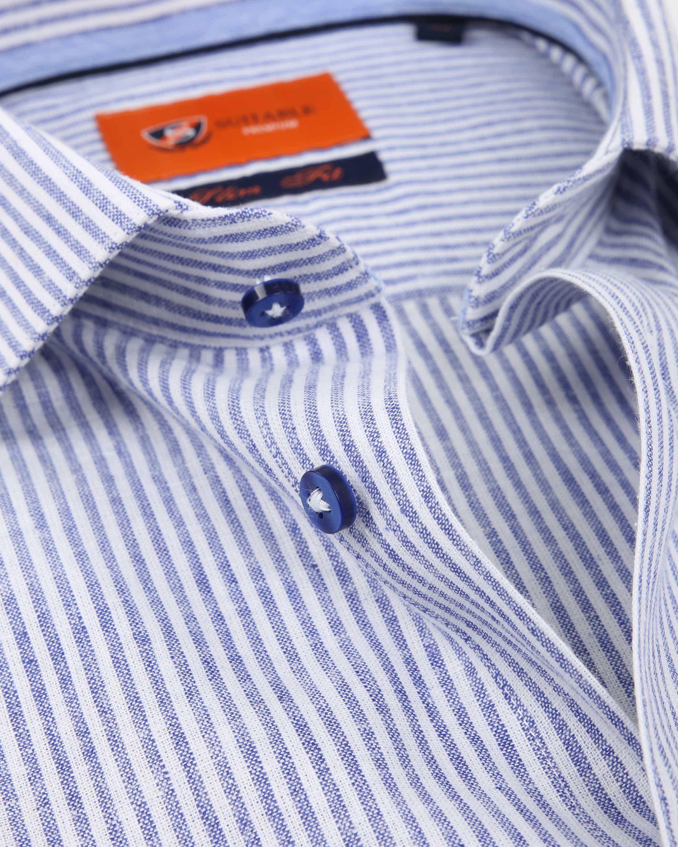 Suitable Hemd Leinen Blau D81-14 foto 1