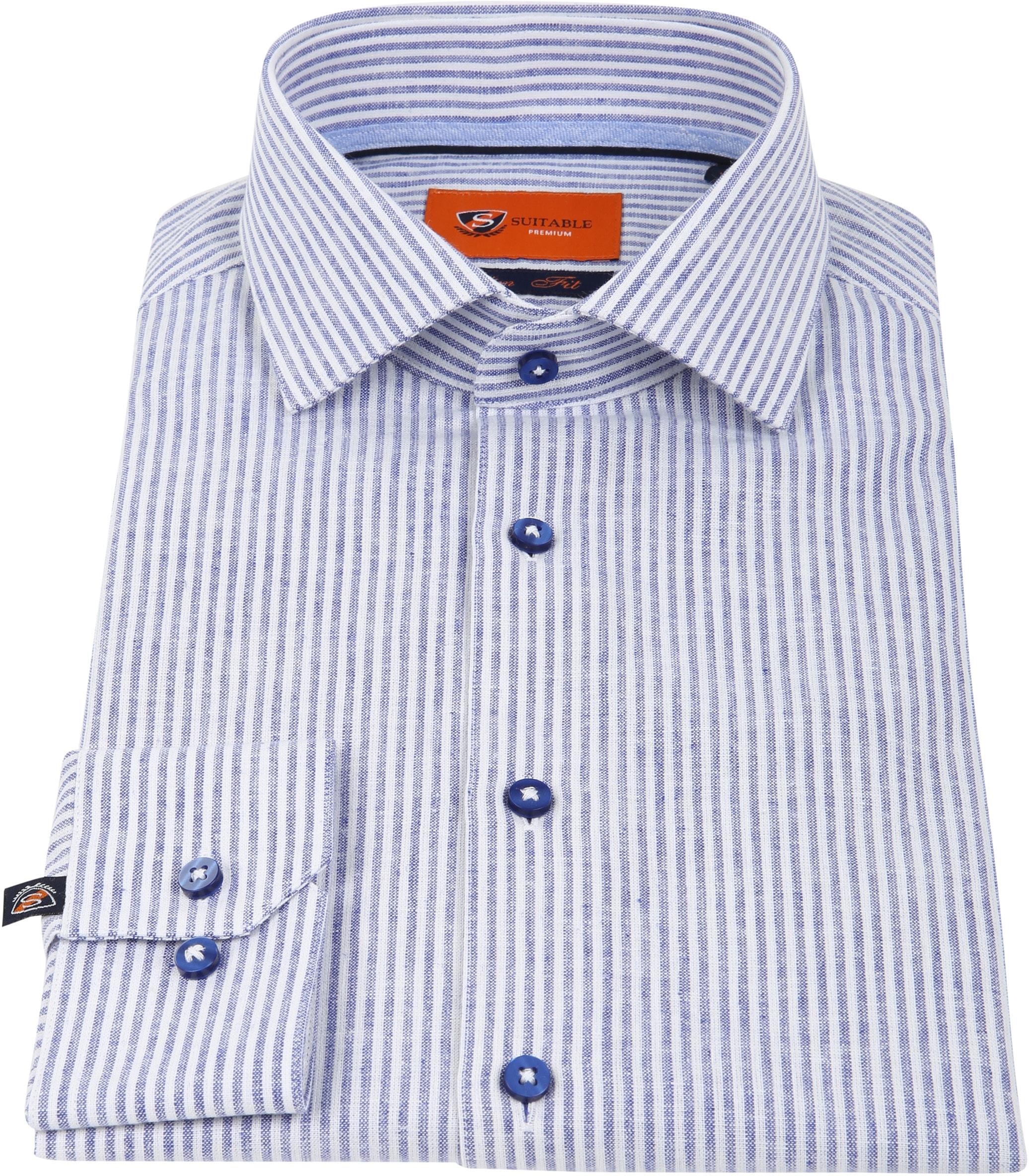 Suitable Hemd Leinen Blau D81-14 foto 2