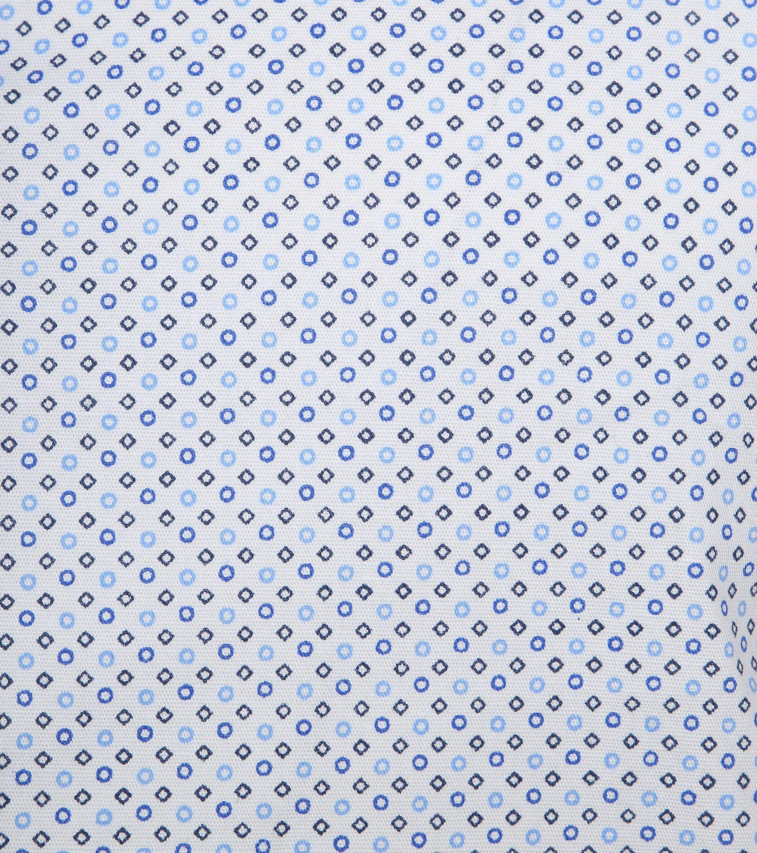 Suitable Hemd SS Carre Weiß Blau foto 2