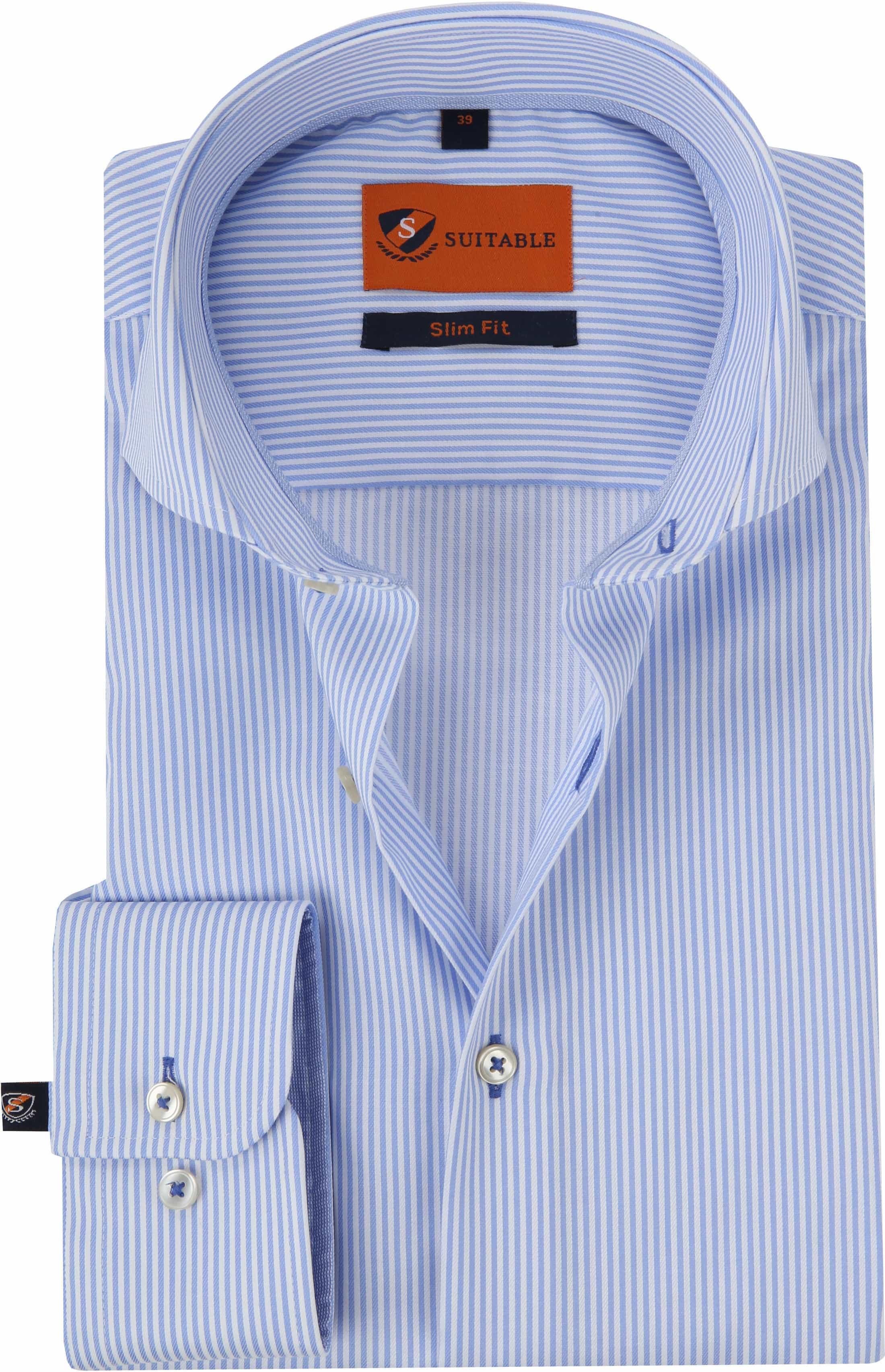 Suitable Hemd Streifen Blau foto 0