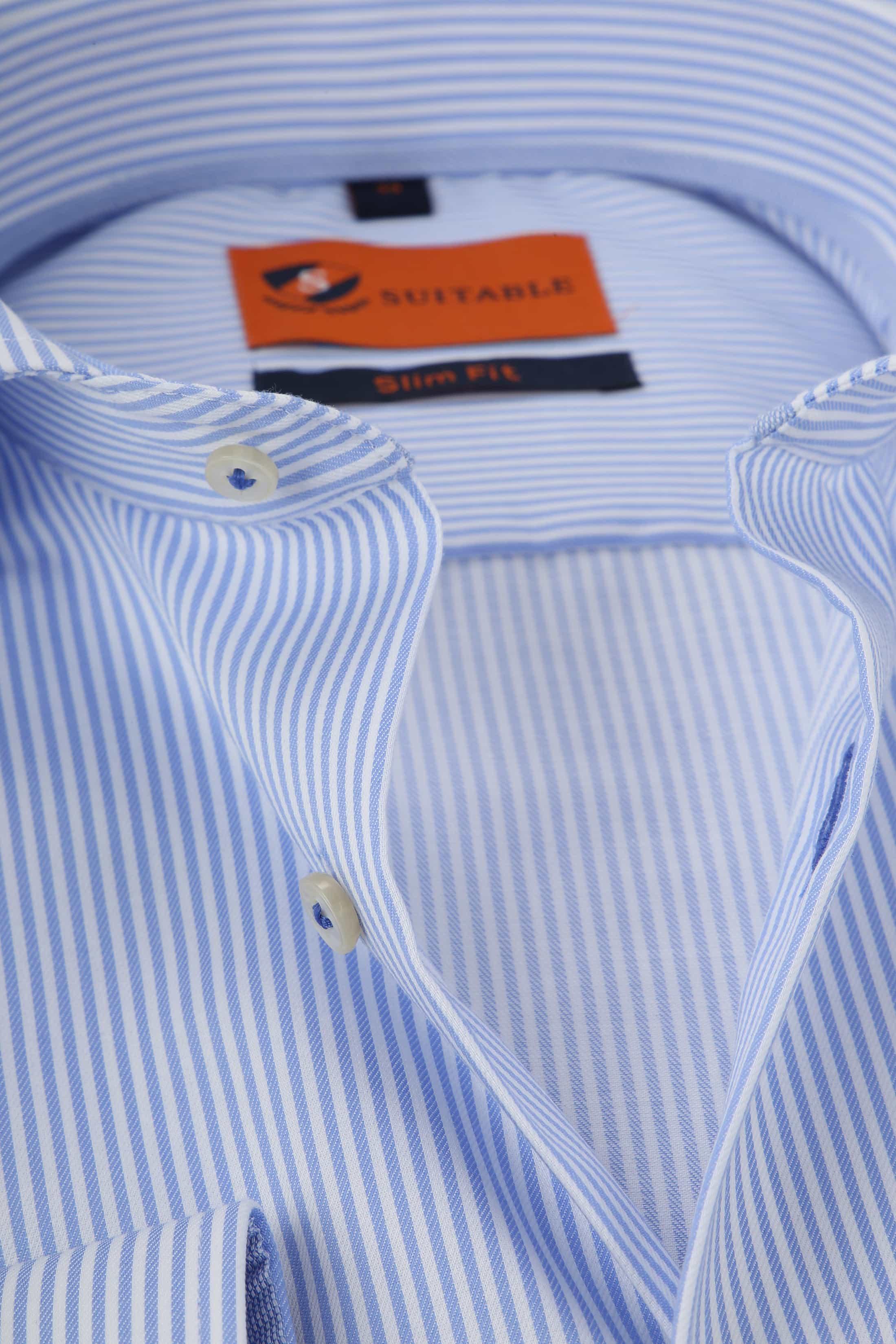 Suitable Hemd Streifen Blau foto 1
