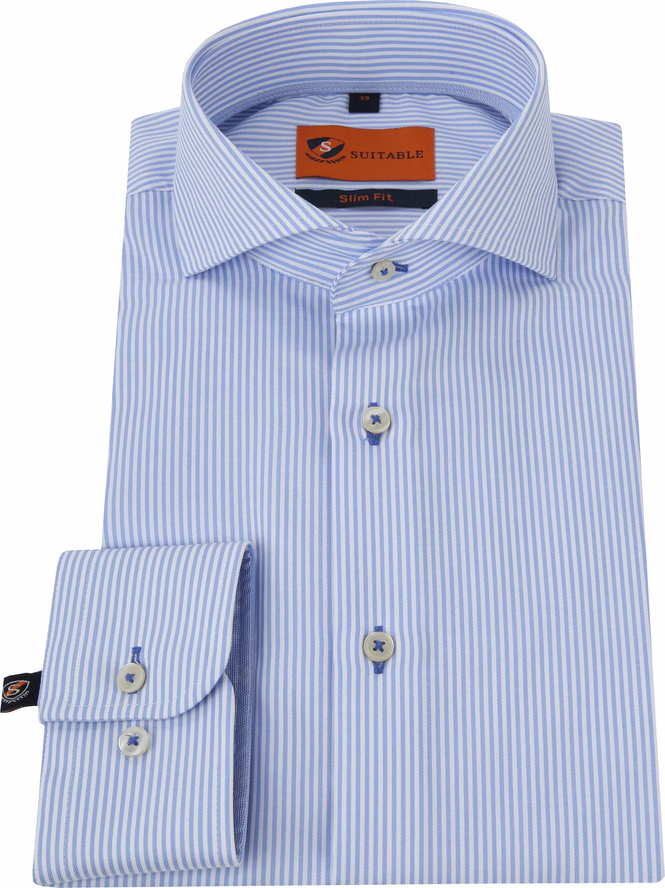 Suitable Hemd Streifen Blau foto 2