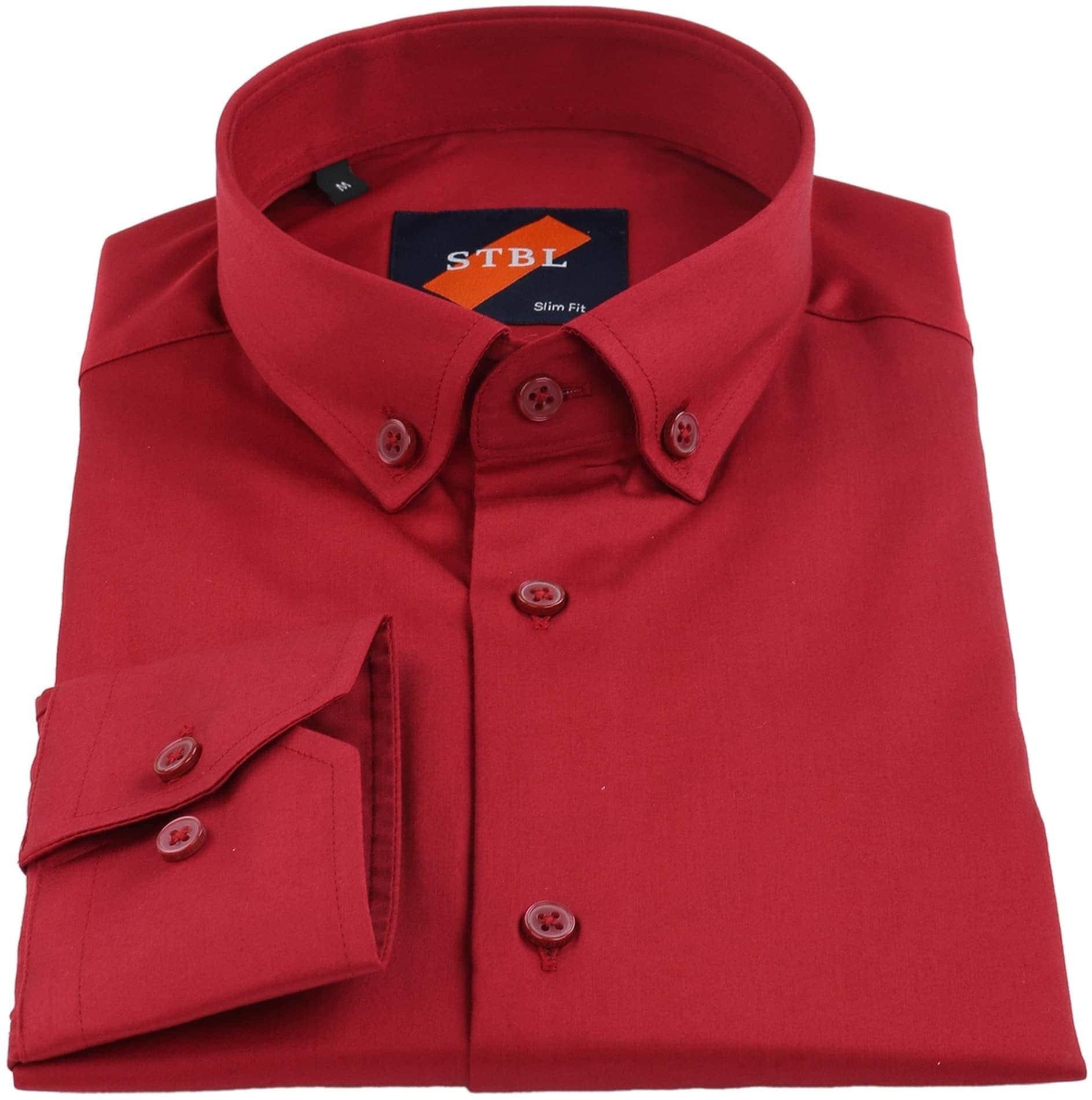 Suitable Hemd Uni Rot foto 1