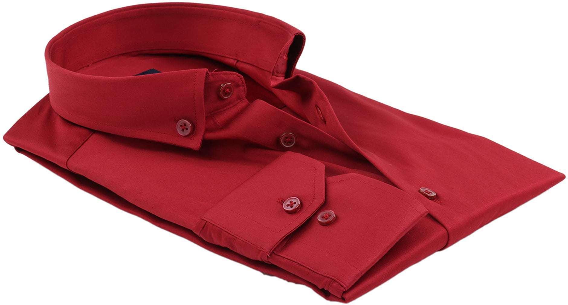 Suitable Hemd Uni Rot foto 3