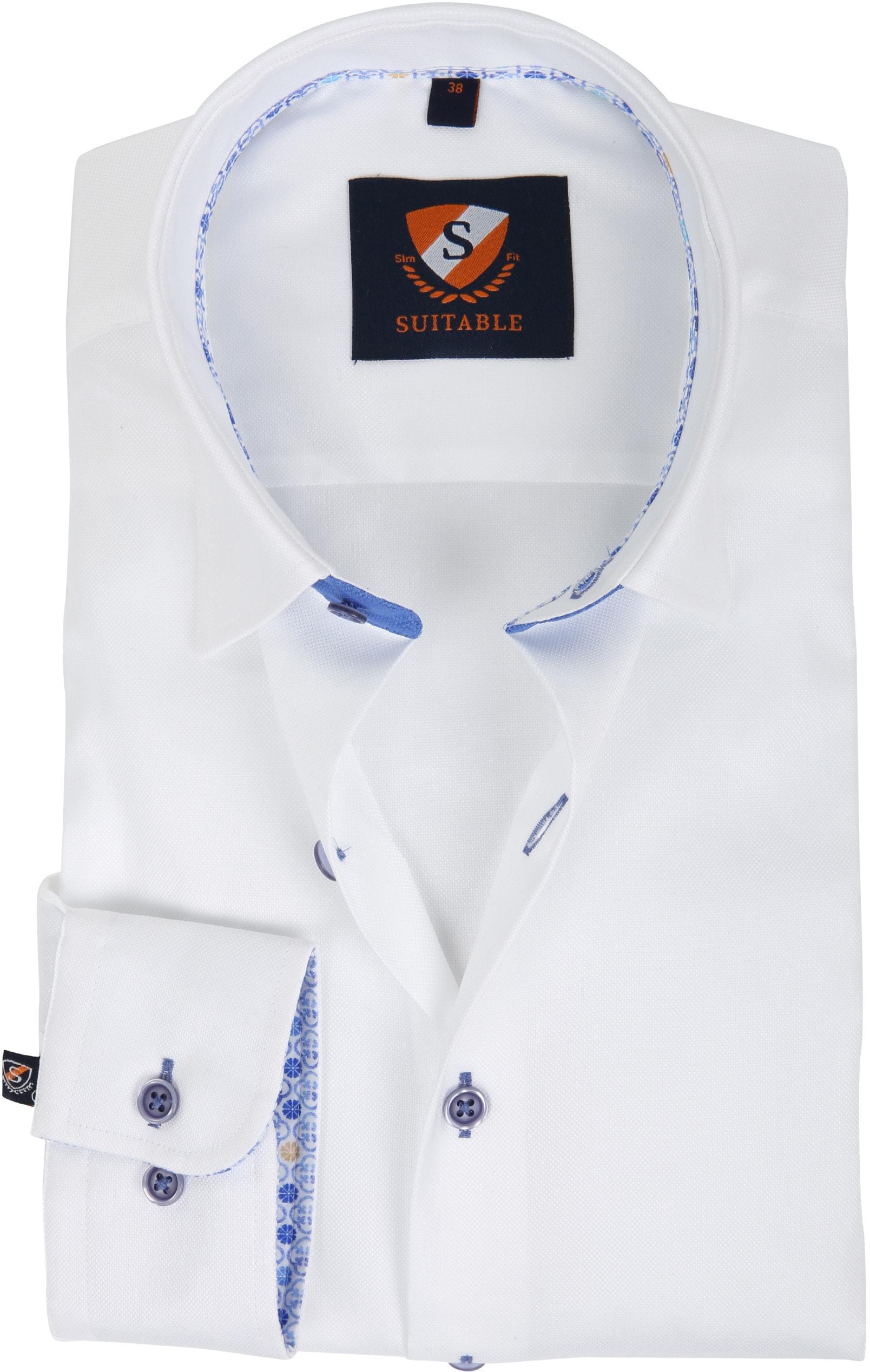 Suitable Hemd Weiß 181-1 foto 0