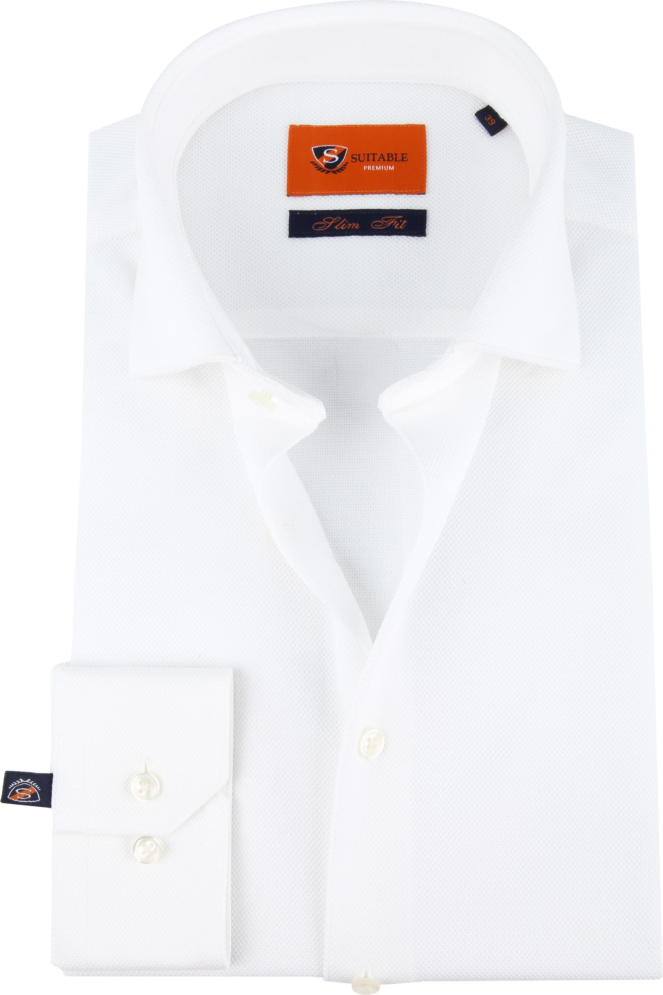 Suitable Jersey Hemd Weiß