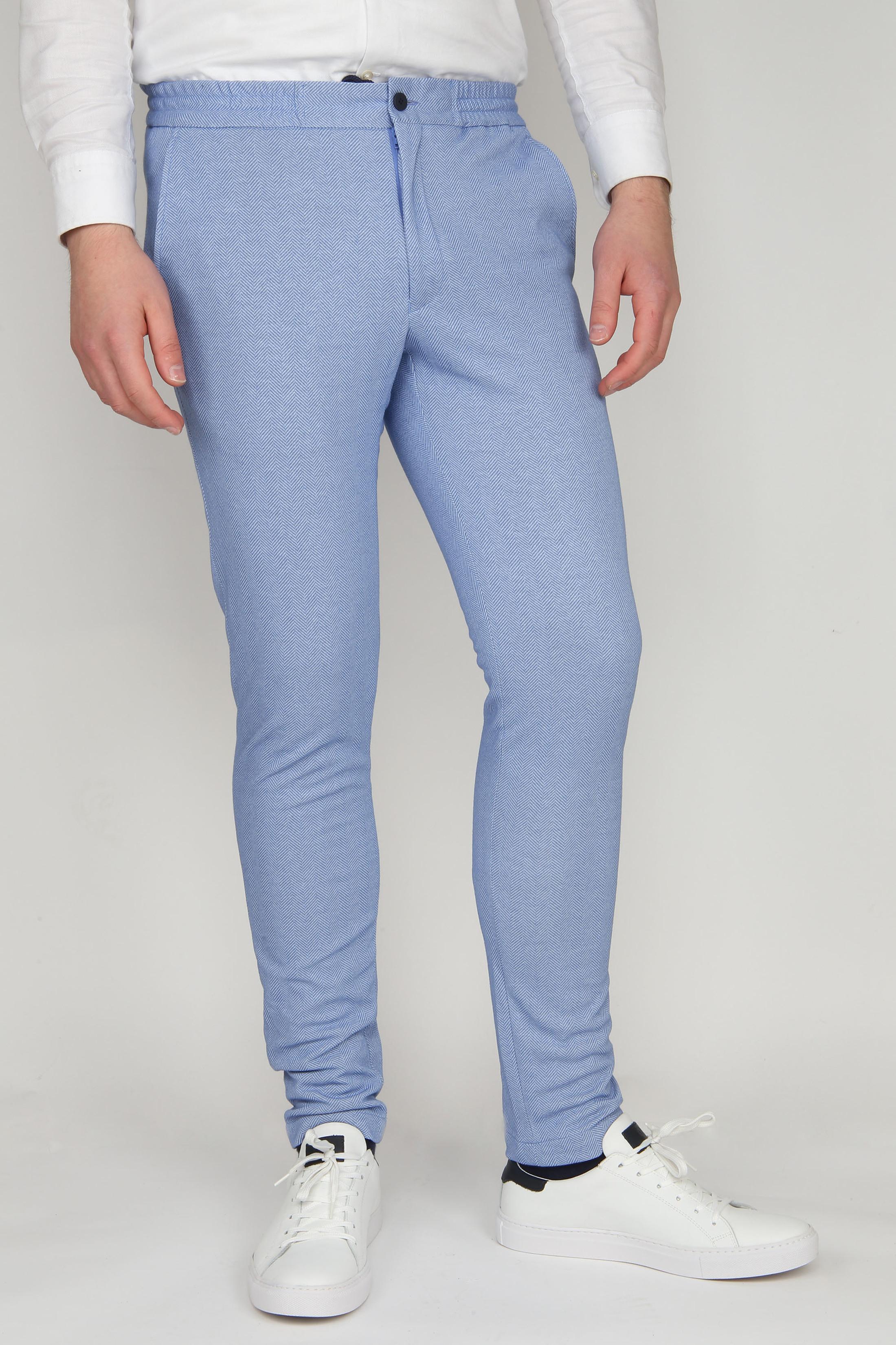 Suitable Jog Pantalon Cocoa Blauw