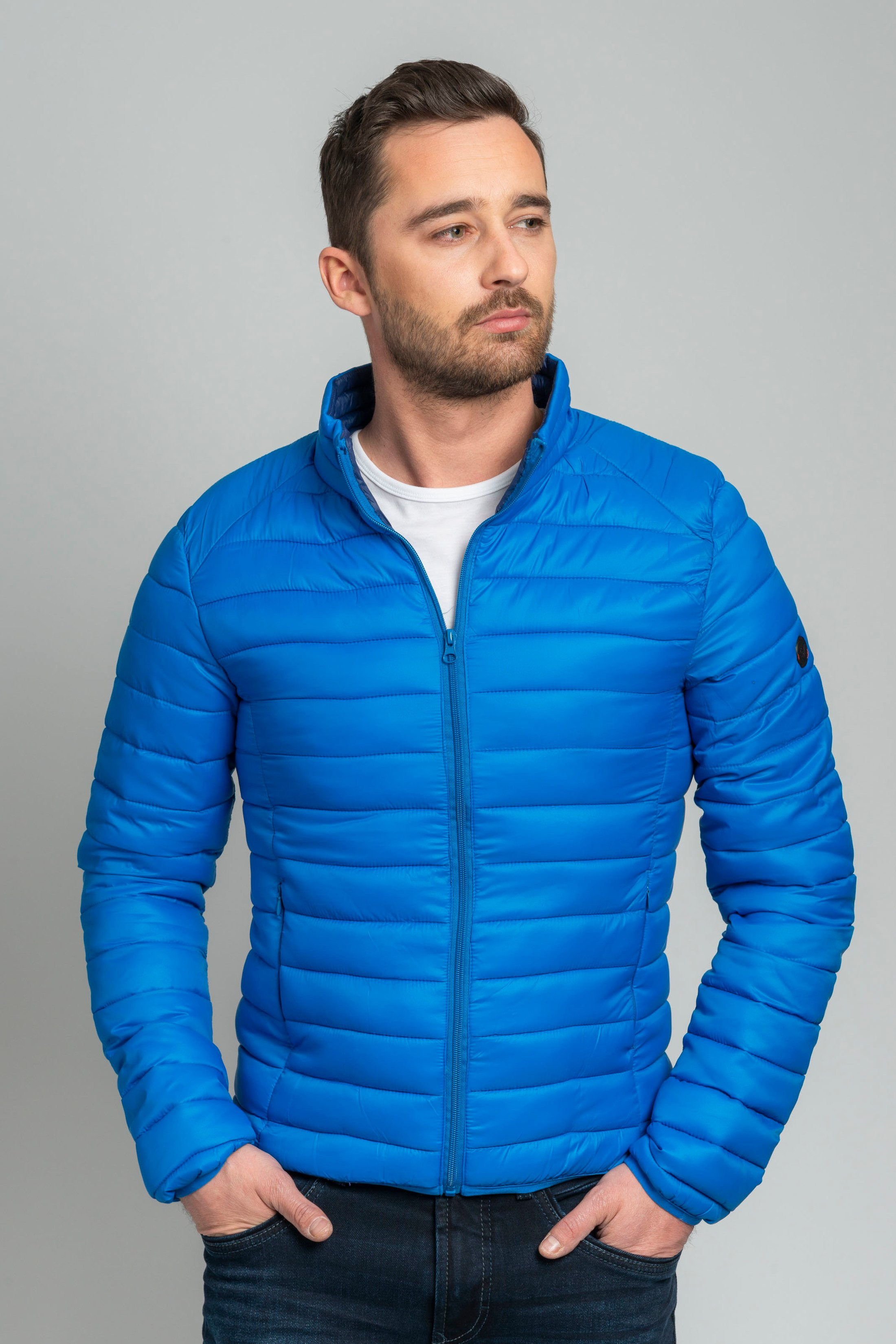 Suitable Jon PCK Jacket Blue foto 6