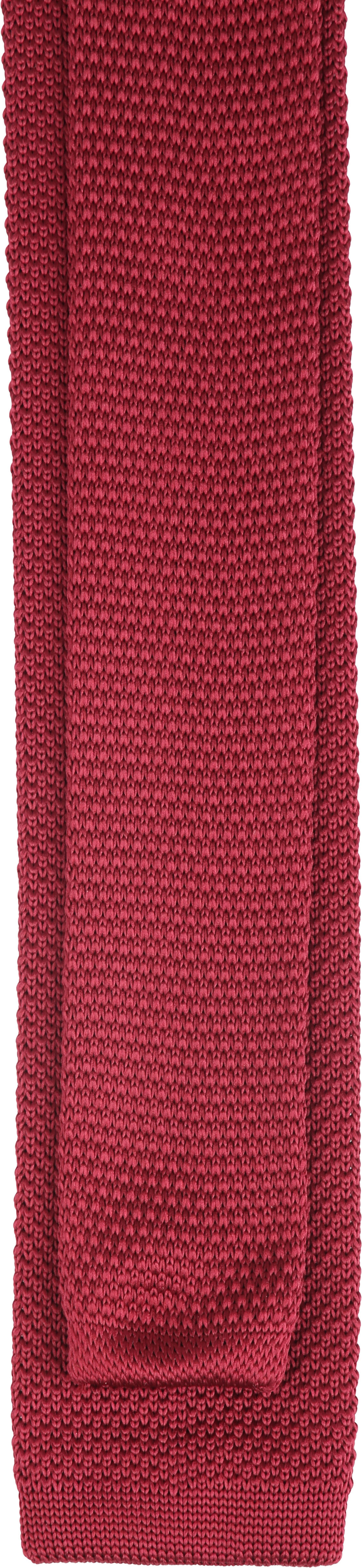 Suitable Knitted Stropdas Bordeaux foto 2