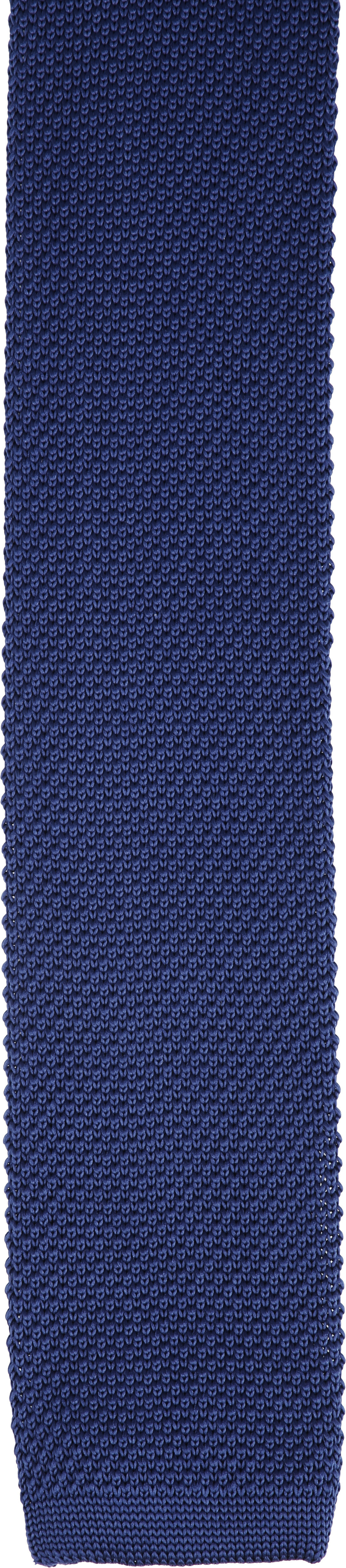 Suitable Knitted Stropdas Navy foto 1