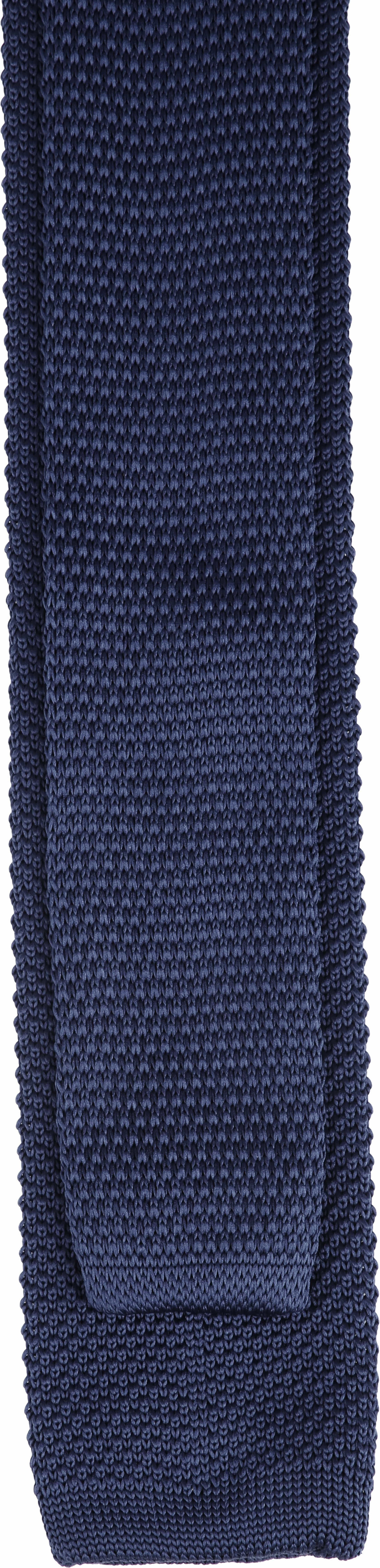 Suitable Knitted Stropdas Navy foto 2