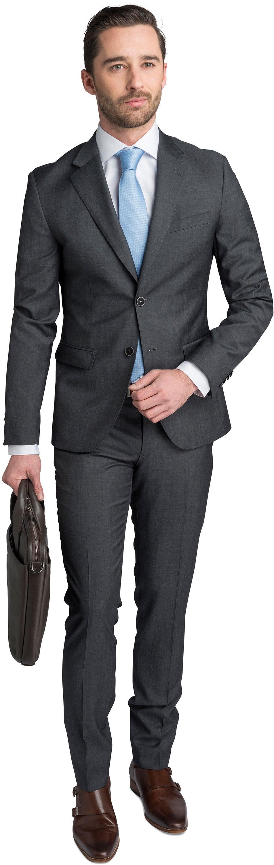 Suitable Kostuum Strato Antraciet foto 0