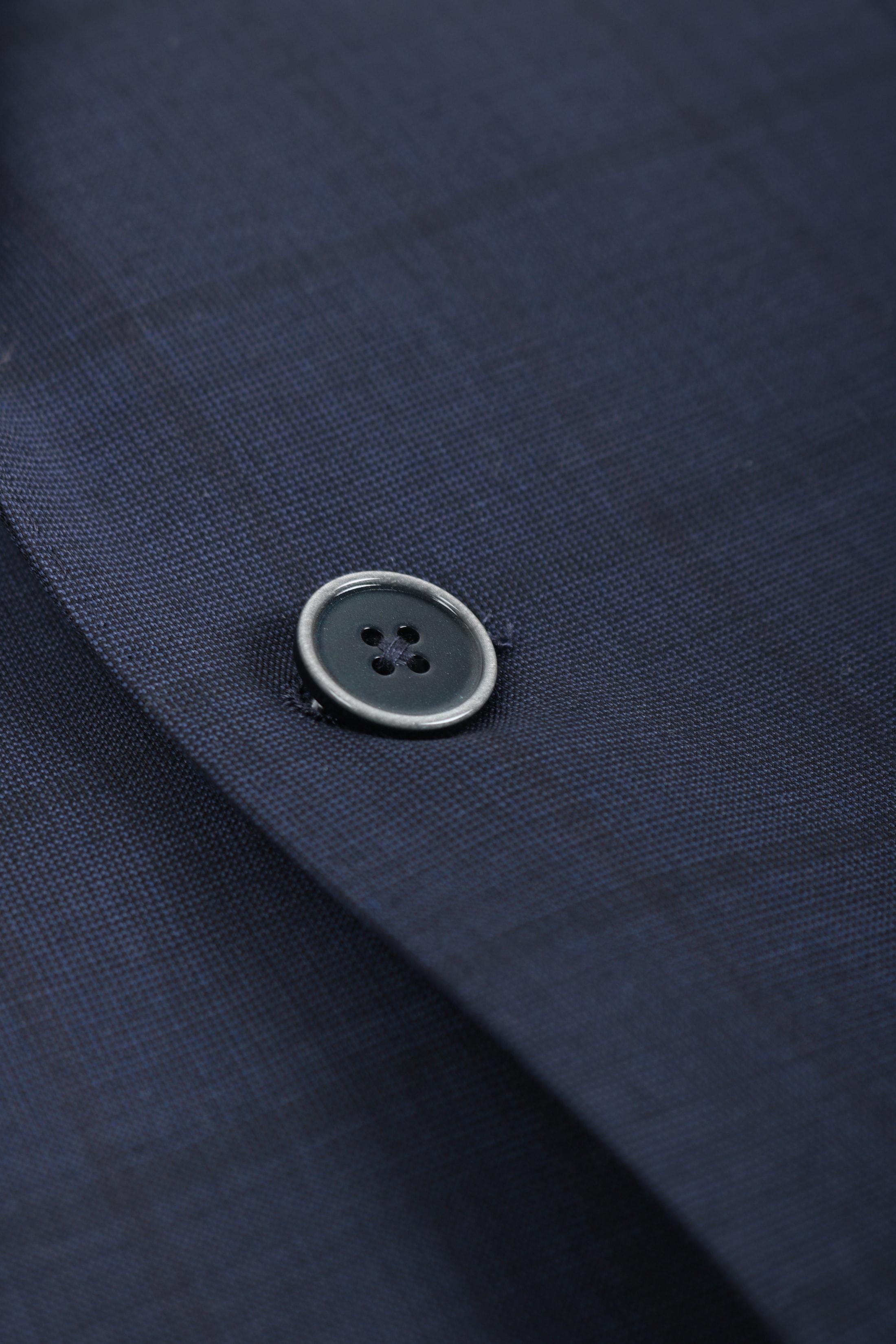 Suitable Kostuum Turino Donkerblauw Ruit foto 1