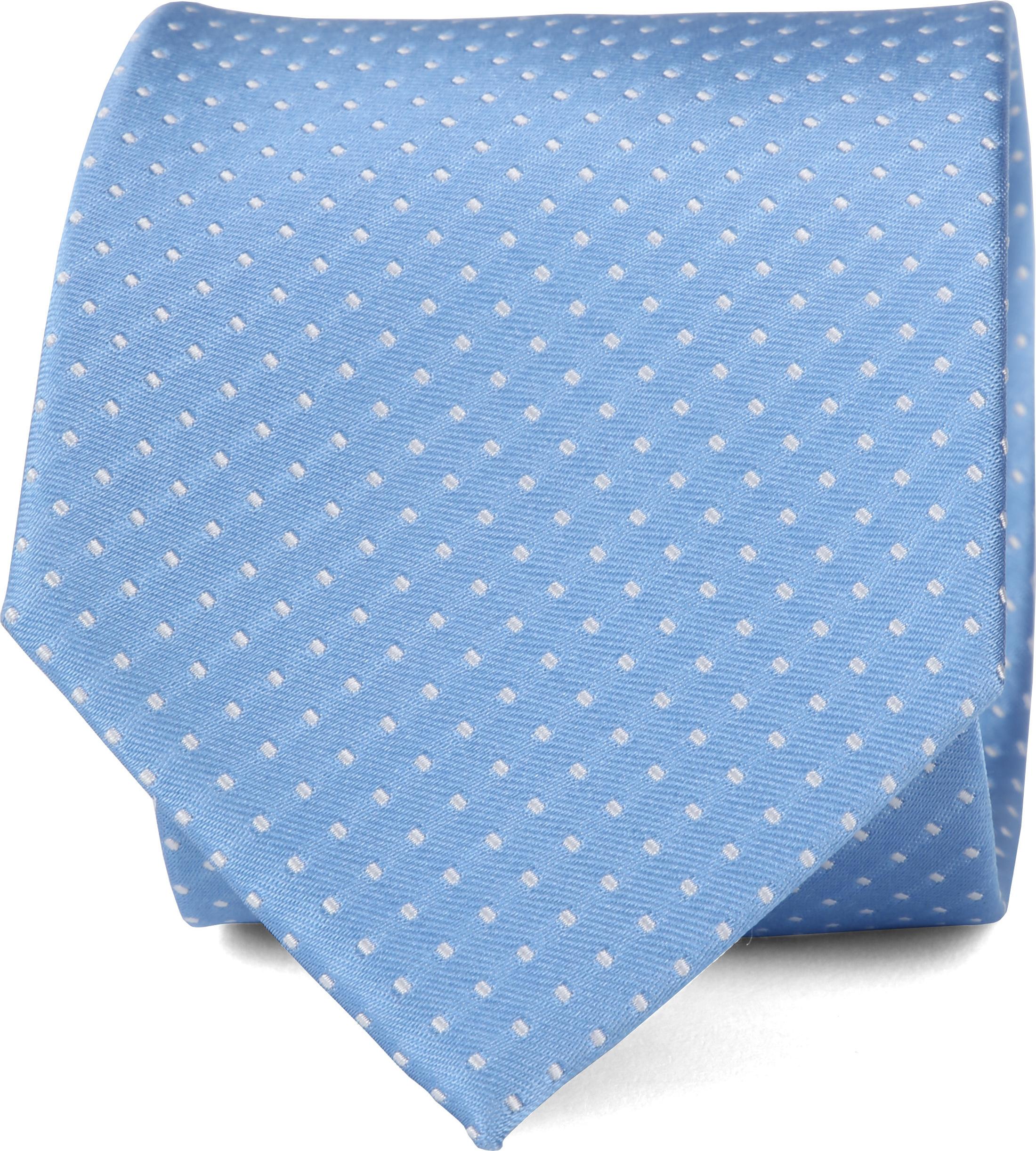 Suitable Krawatte Seide Blau F91-7 foto 0