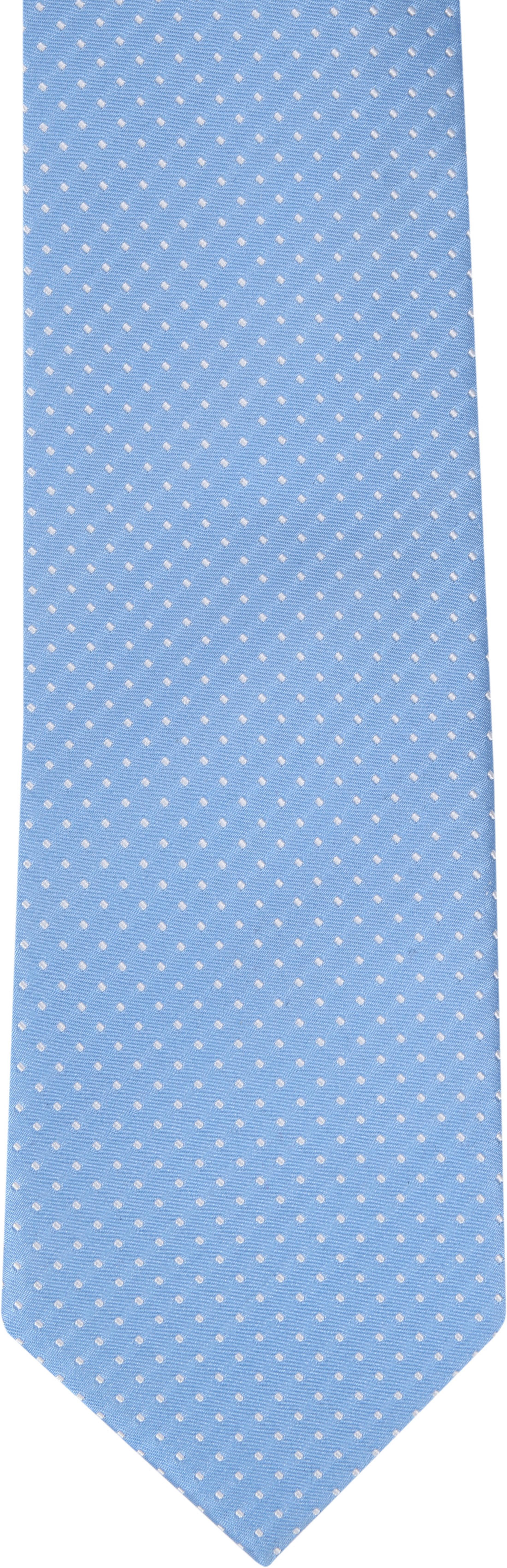 Suitable Krawatte Seide Blau F91-7 foto 1